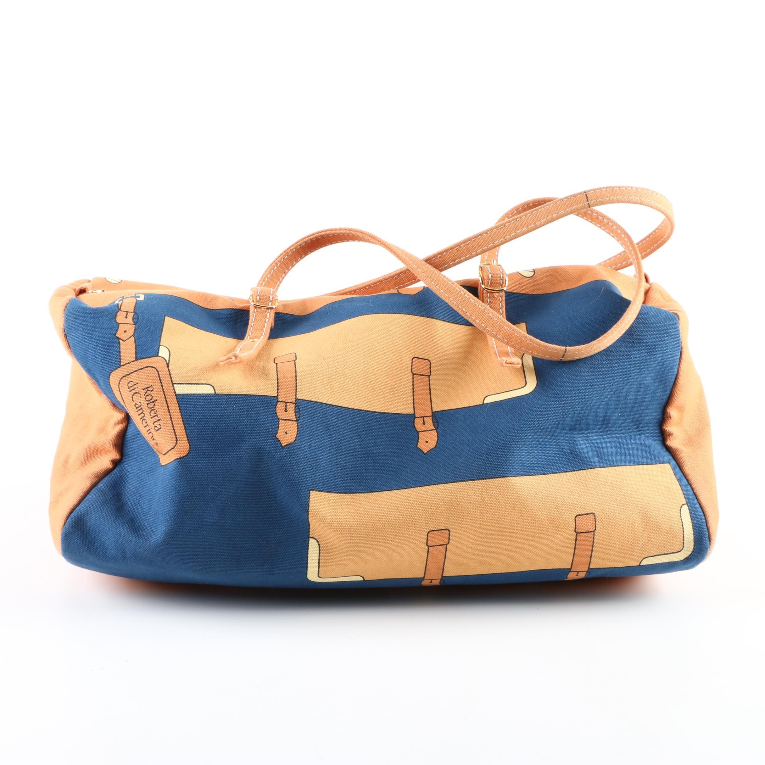 Circa 1970s Roberta di Camerino Small Canvas Duffel Bag