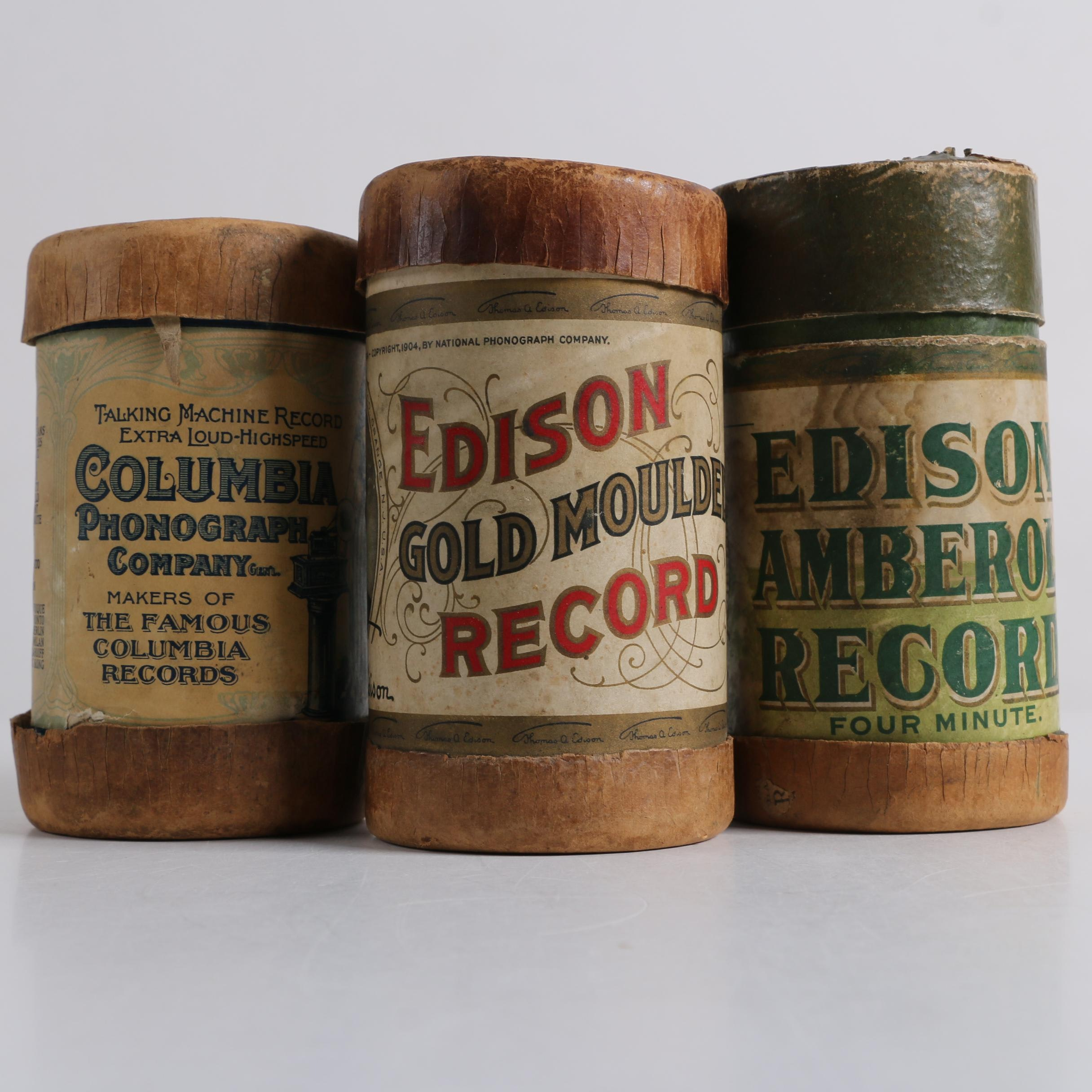 "Phonograph Wax Cylinders Including ""Clara Jenkins and Dave Braham"""