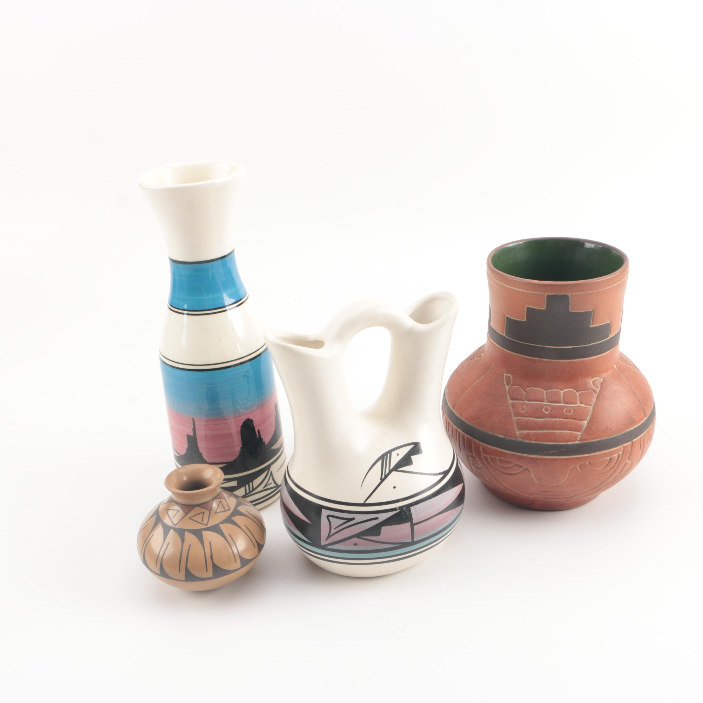 Native American Style Pottery Vases