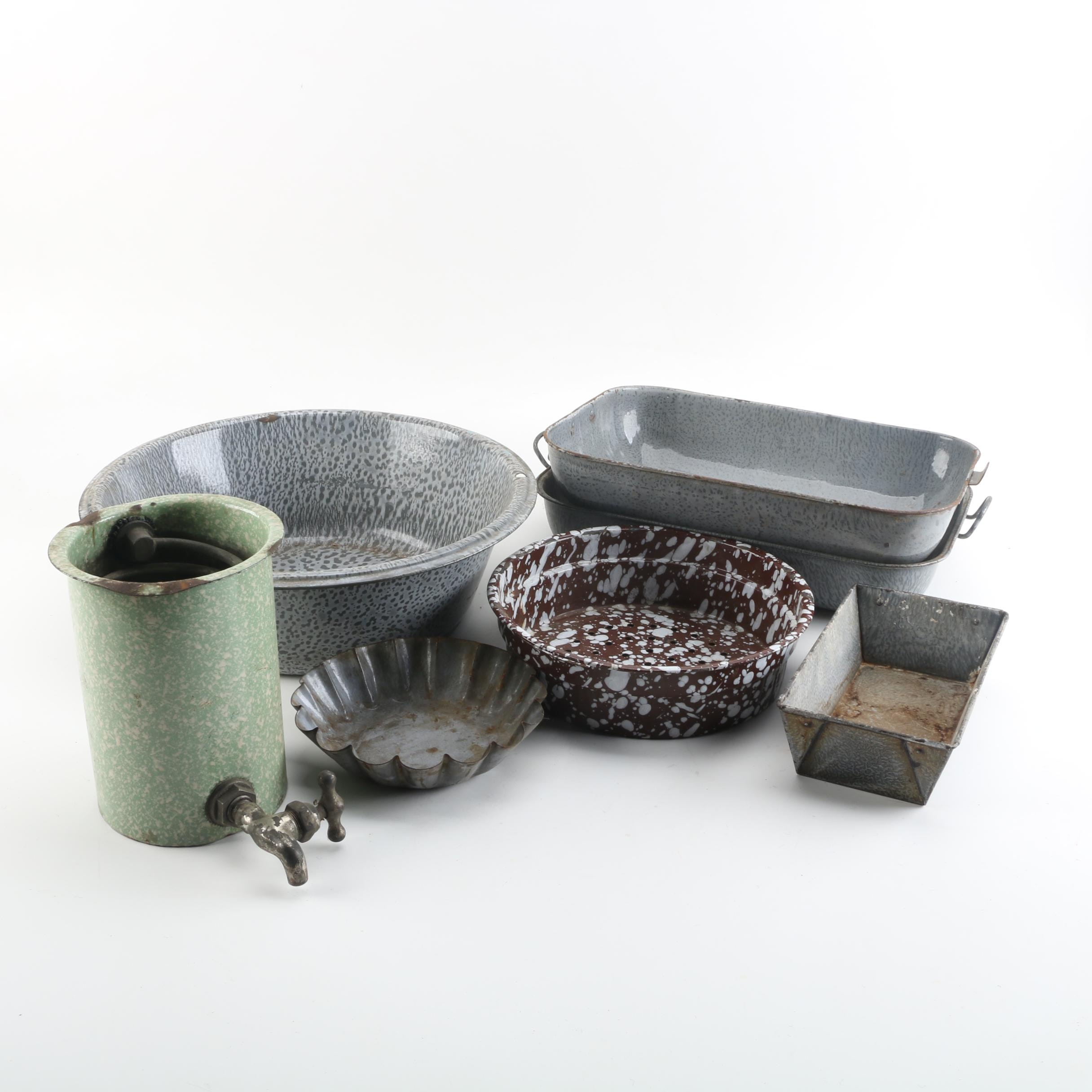 Metal and Enamel Camping Cookware
