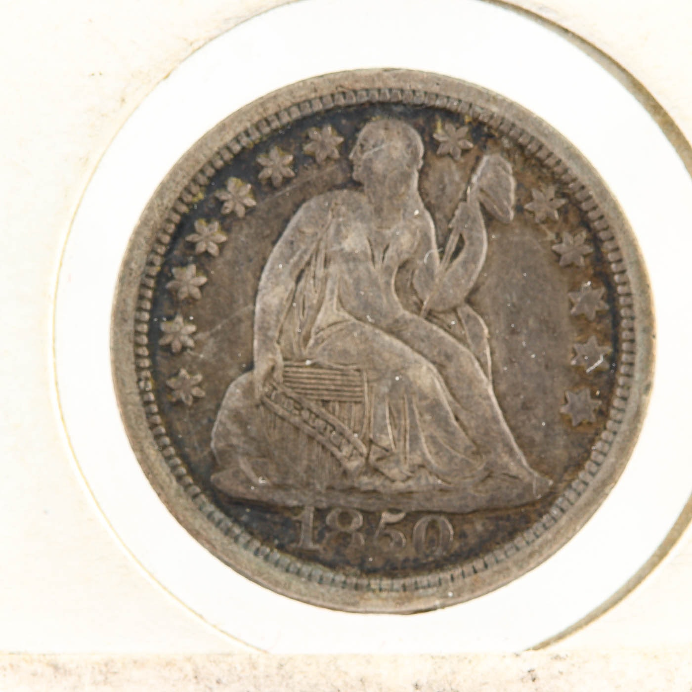 1850 Seated Liberty Silver Dime