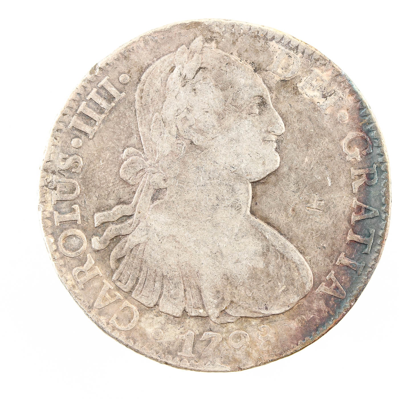 1798 Spanish Colonial 8 Reales Silver Coin