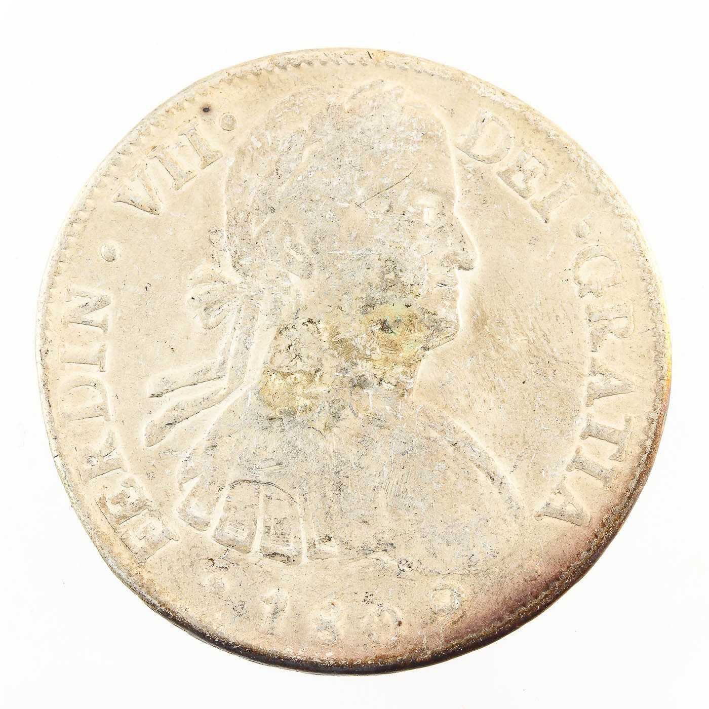 1809 Spanish Colonial 8 Reales Silver Coin