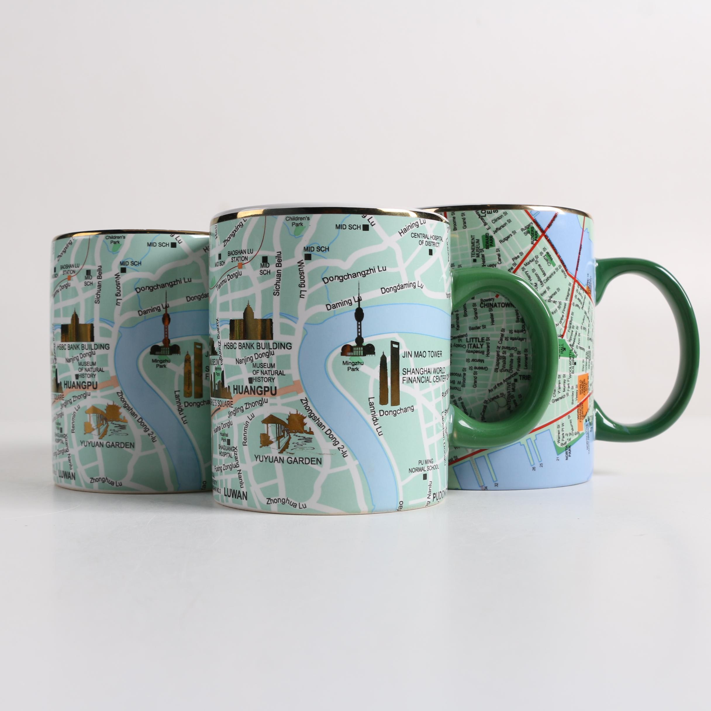 Seletti Cities of the World Mugs Including Shanghai and New York