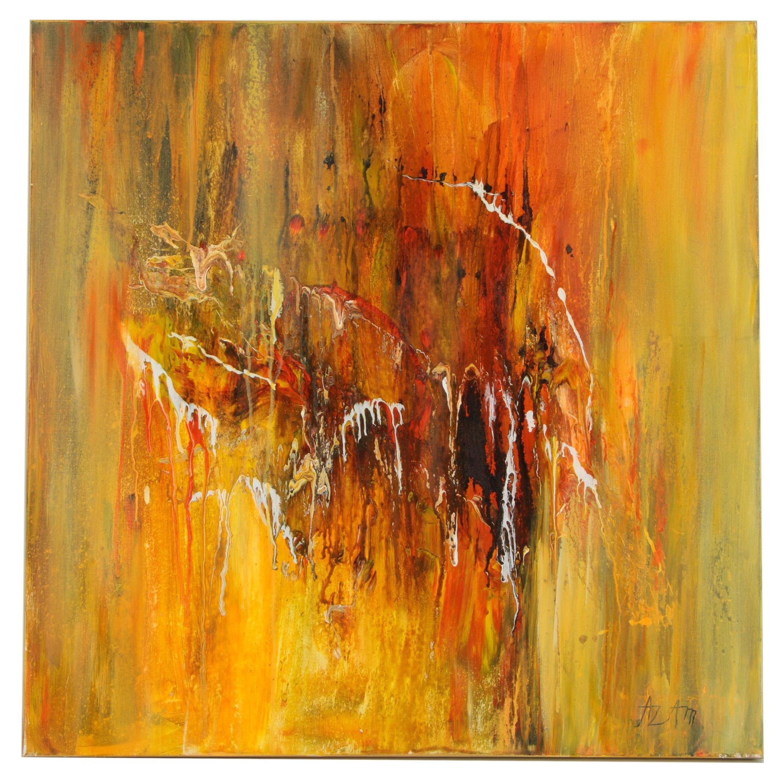 """Azam Zadeh Acrylic Painting """"Lava II"""""""
