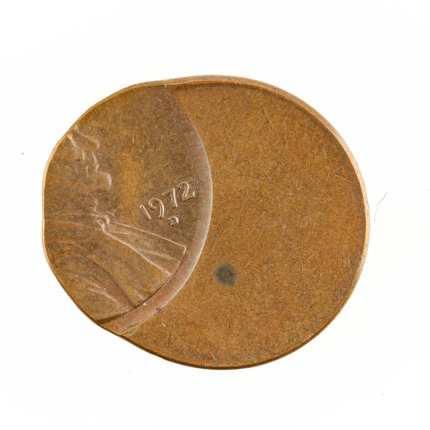 Off Center Mint Error 1972-D Lincoln Cent