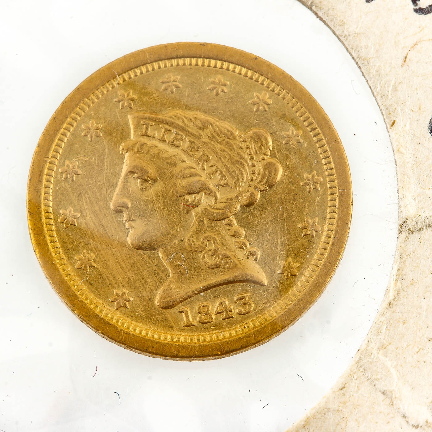 1843-O Liberty Head $2 1/2 Gold Coin