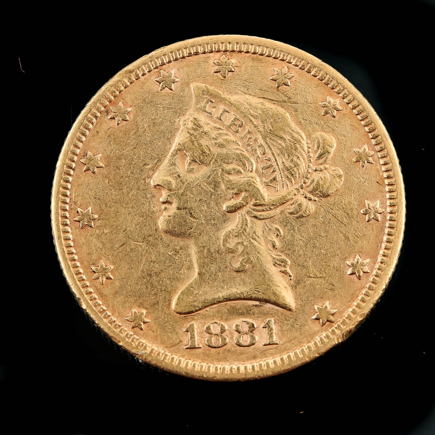 1881 Liberty Head $10 Eagle Gold Coin