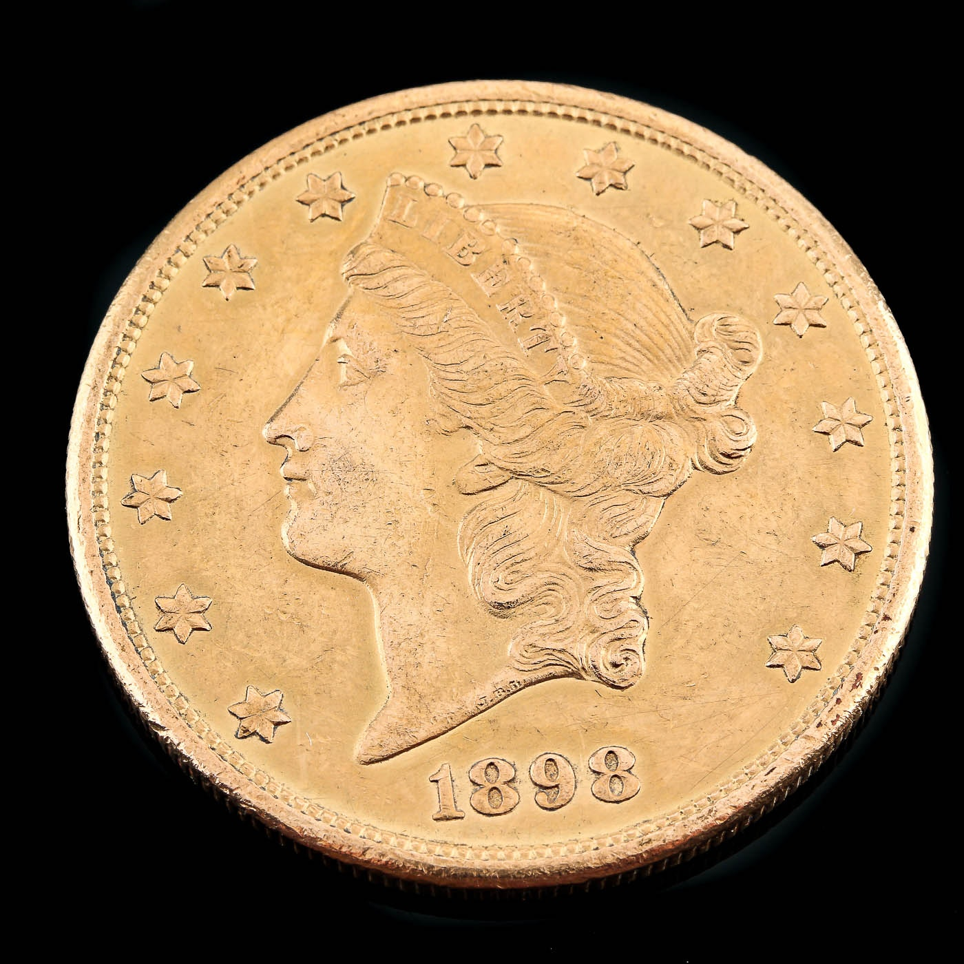 1898-S Liberty Head $20 Gold Coin