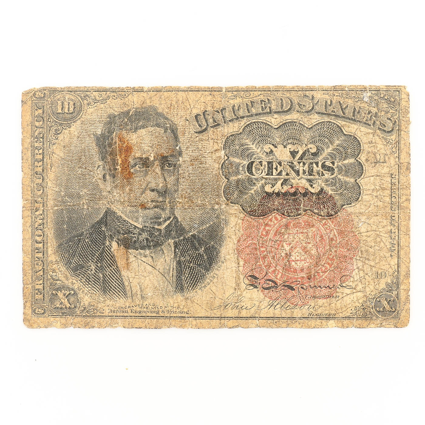 Series of 1874 United States 10 Cent Fractional Currency Note