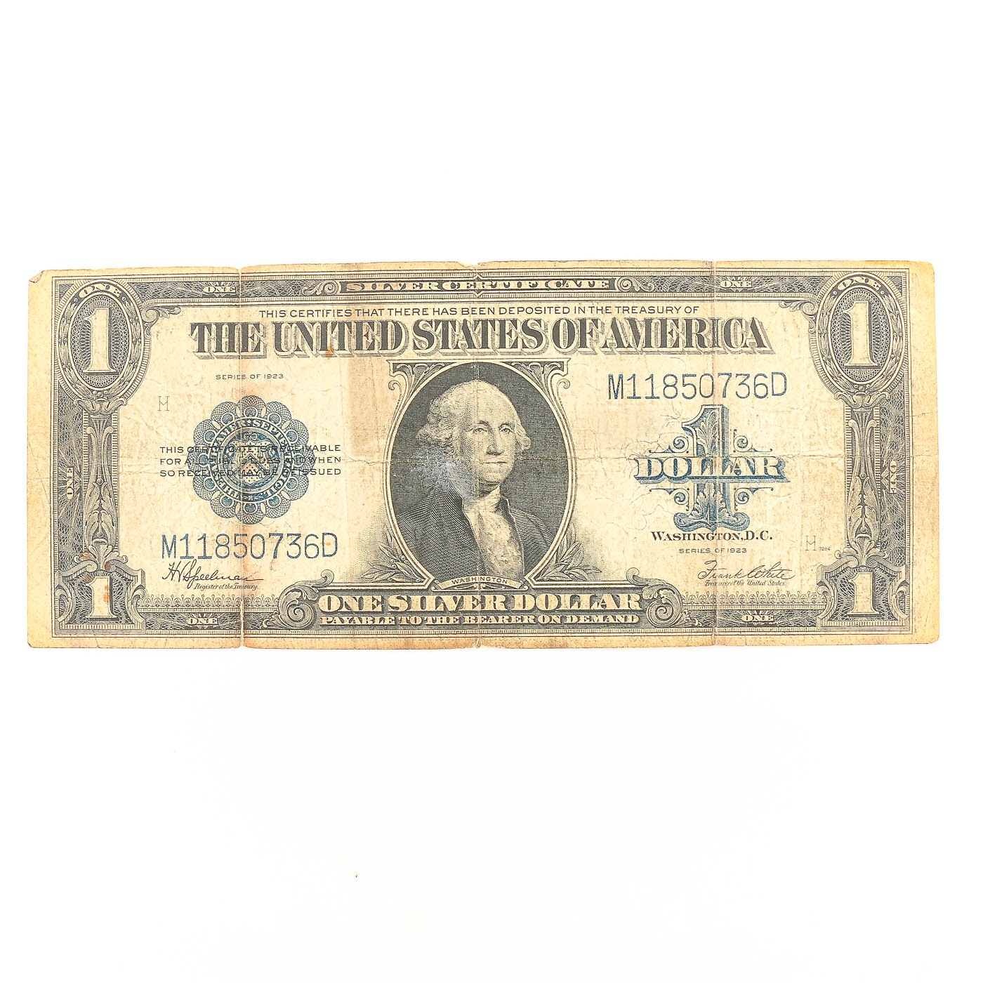 Series of 1923 $1 United States Silver Certificate