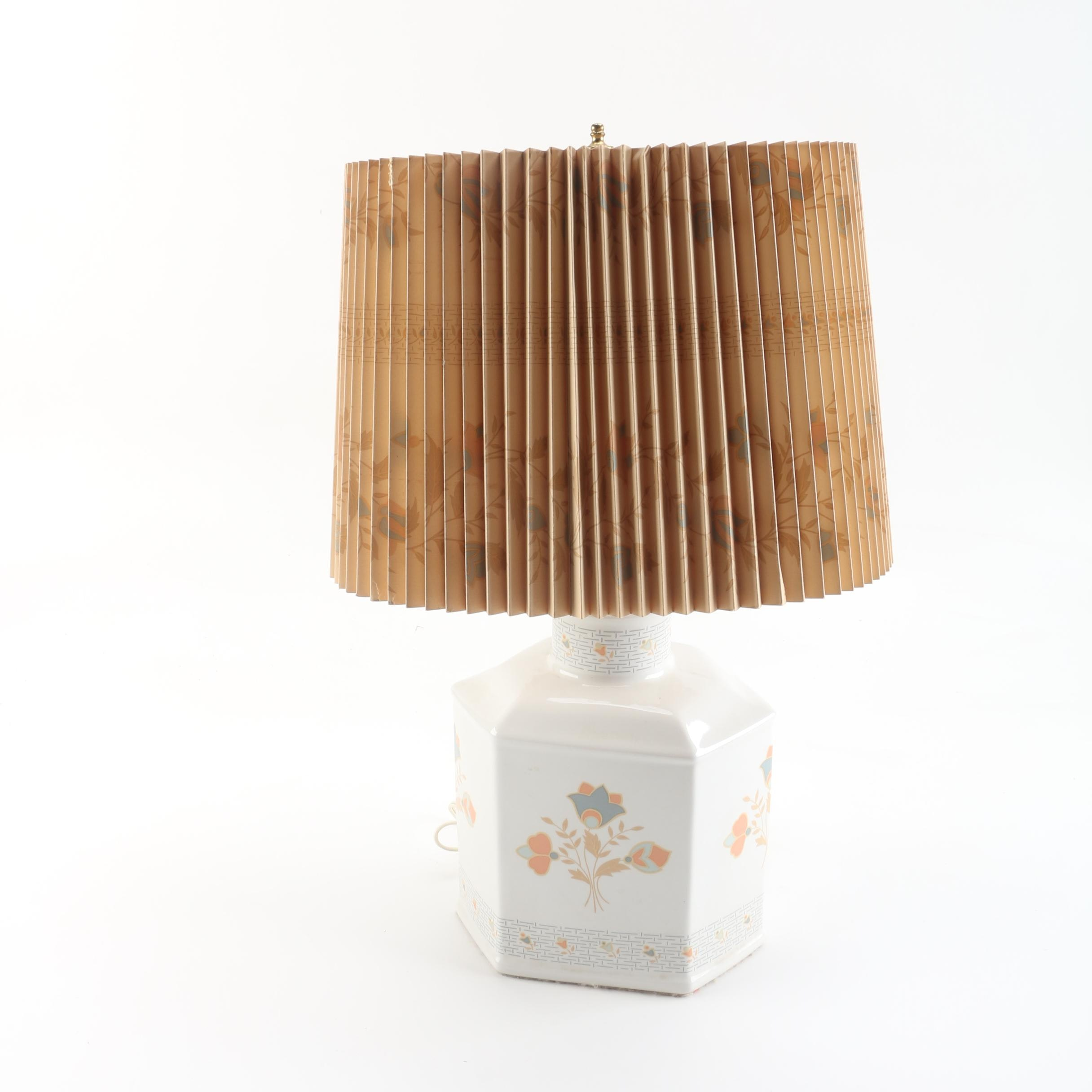 Vintage Mary Quant for Murray Feiss Ceramic Table Lamp And Shade