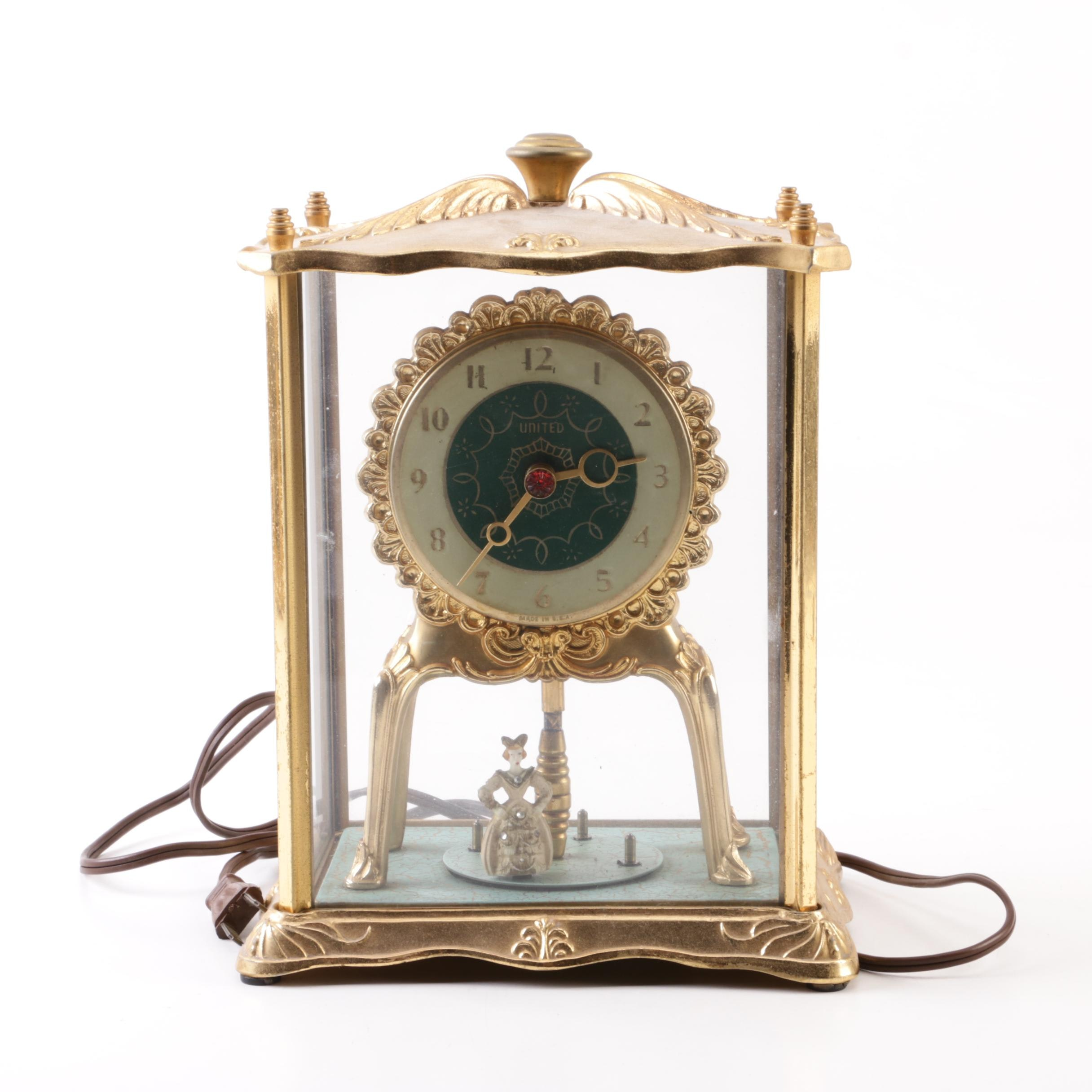 United Clock Co. Electric Motion Mantel Clock
