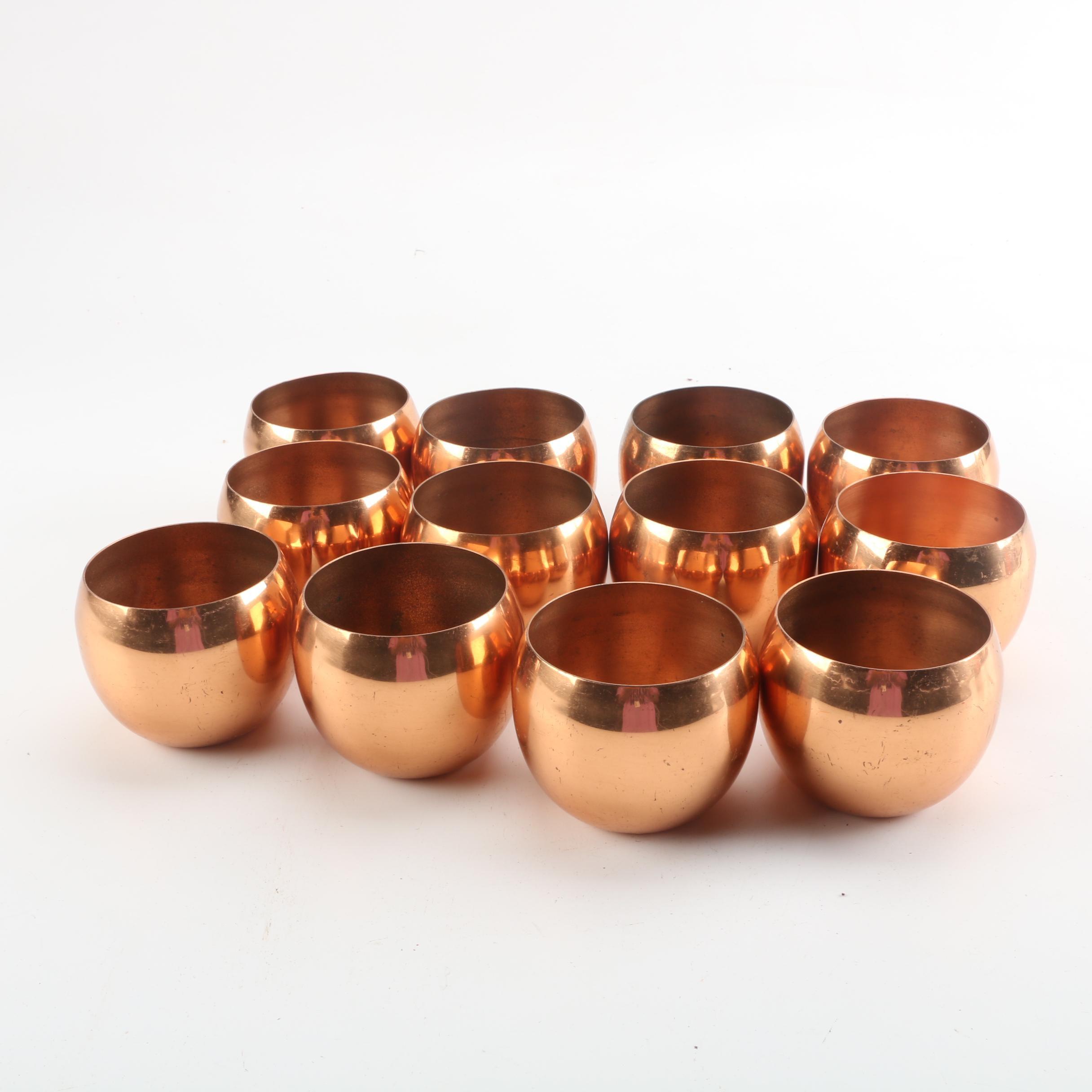 Contemporary Copper Tumblers