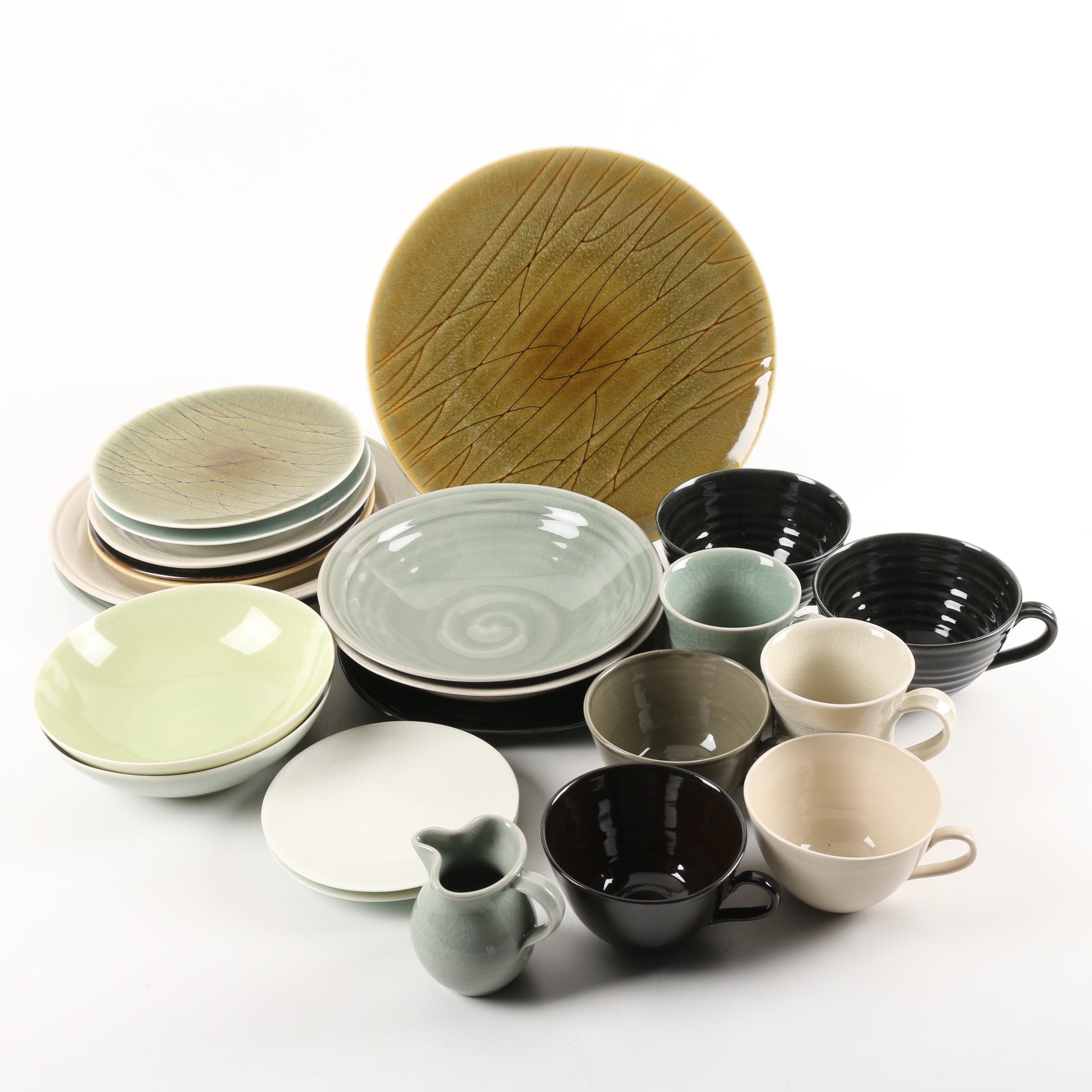 Handmade Stoneware and Porcelain Tableware Including Simon Pearce
