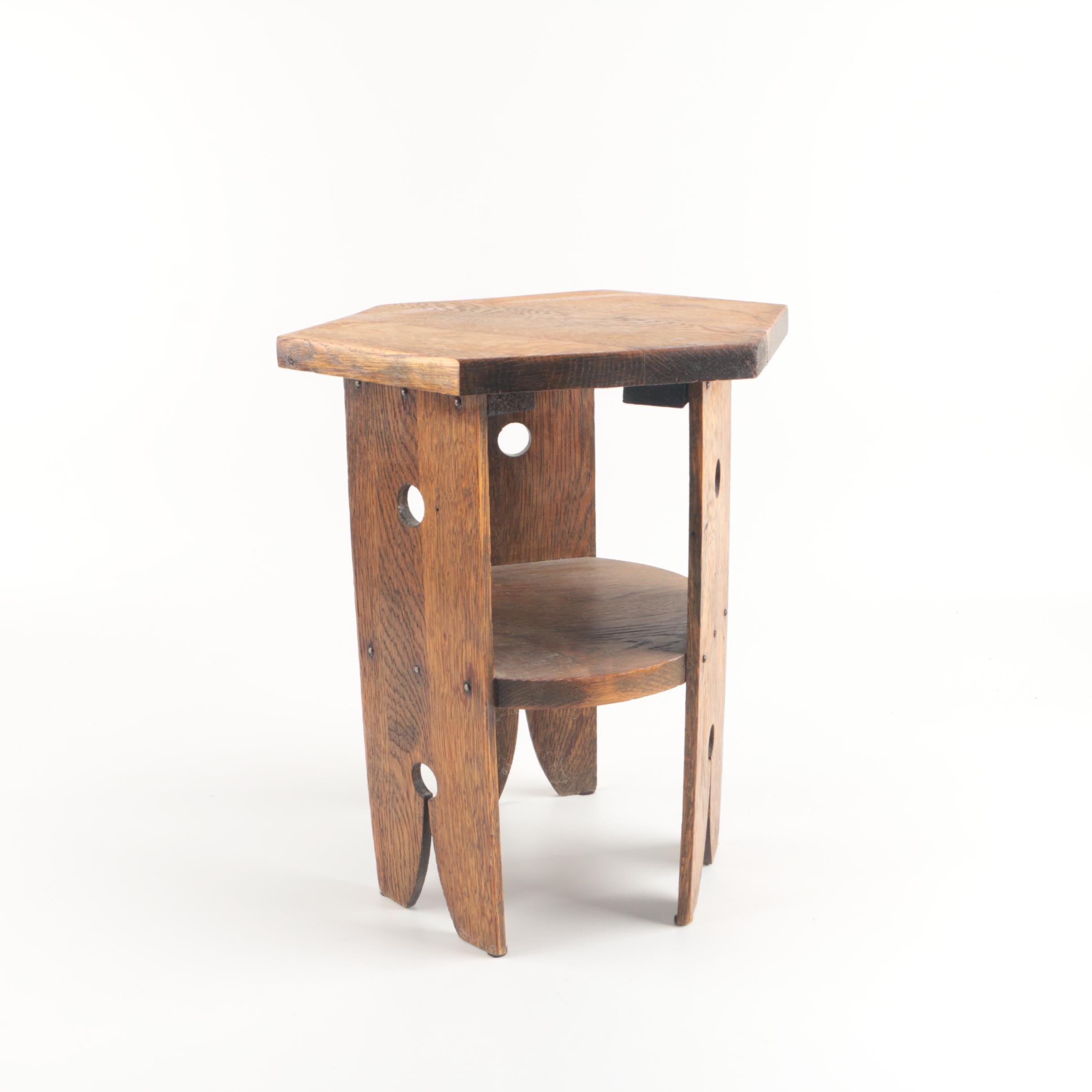 Mission Style Oak Plant Stand or Stool