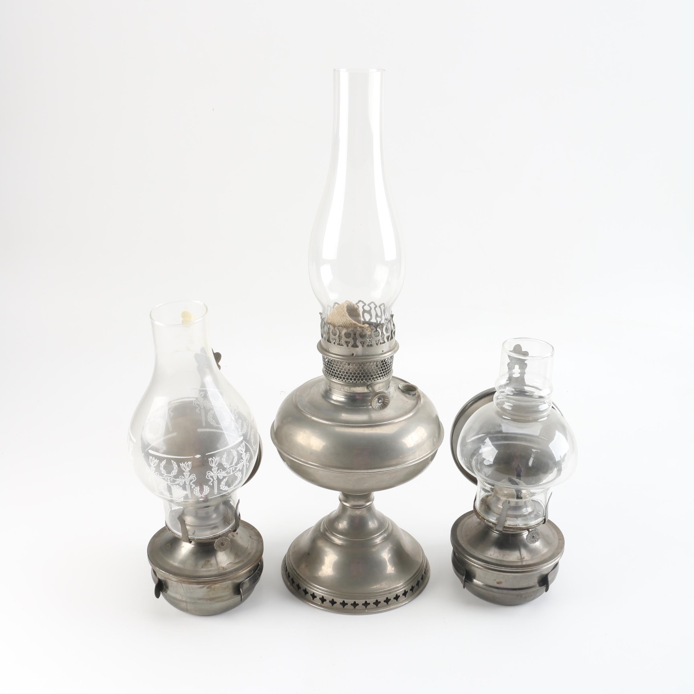 Vintage Metal Oil Lamps