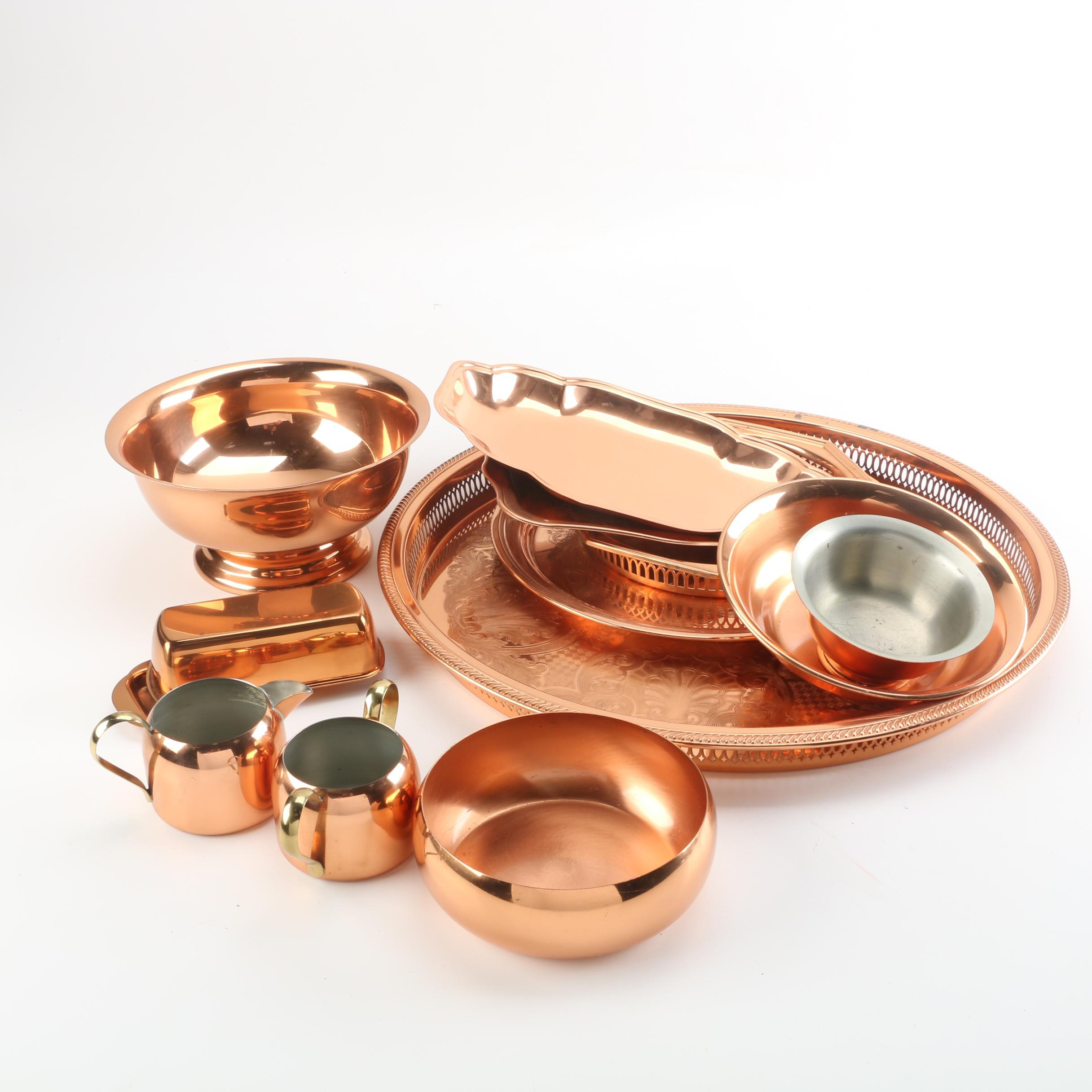 Copper and Metal Serveware Featuring Coppercraft Guild