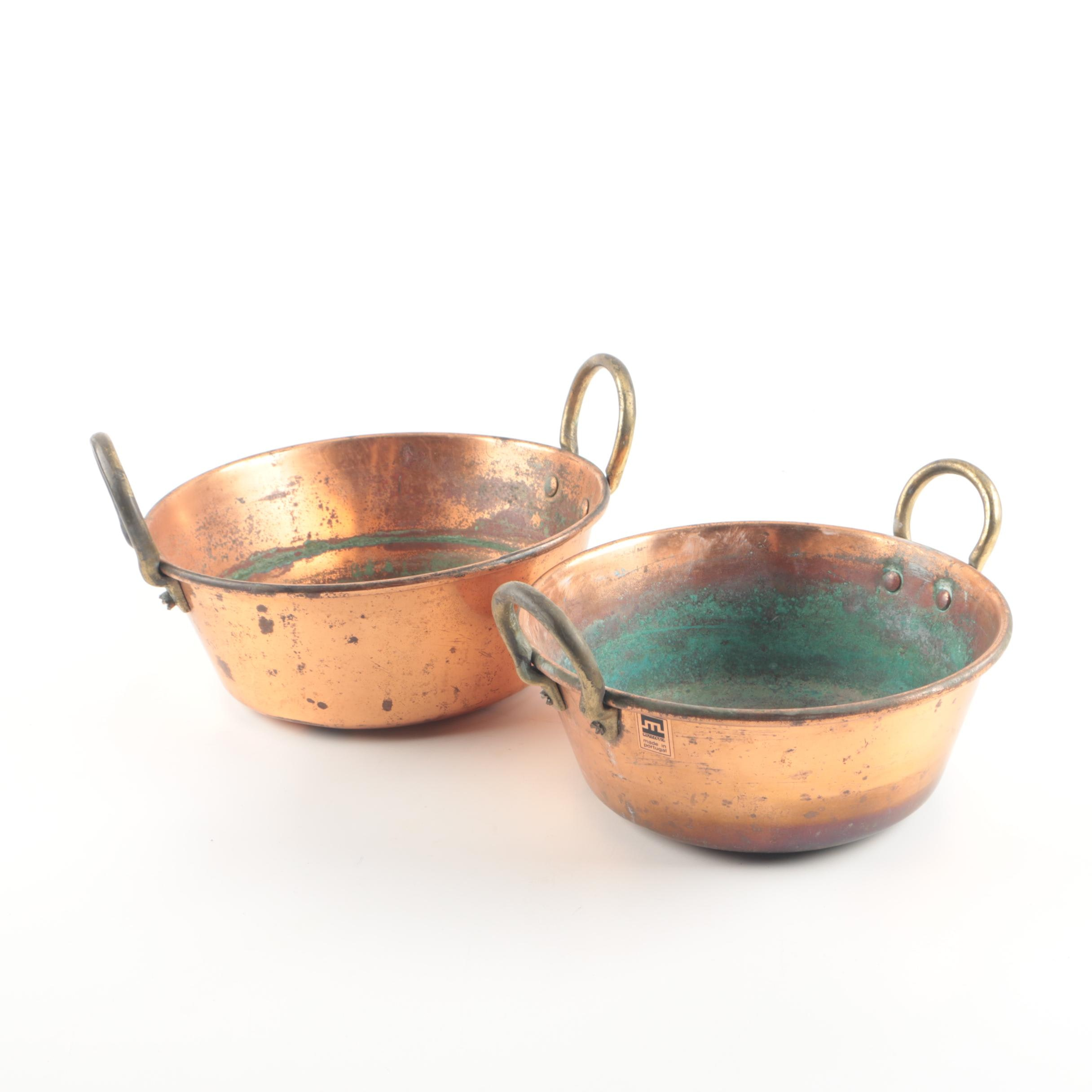 Metalutil  Portugese Copper Pans with Handles