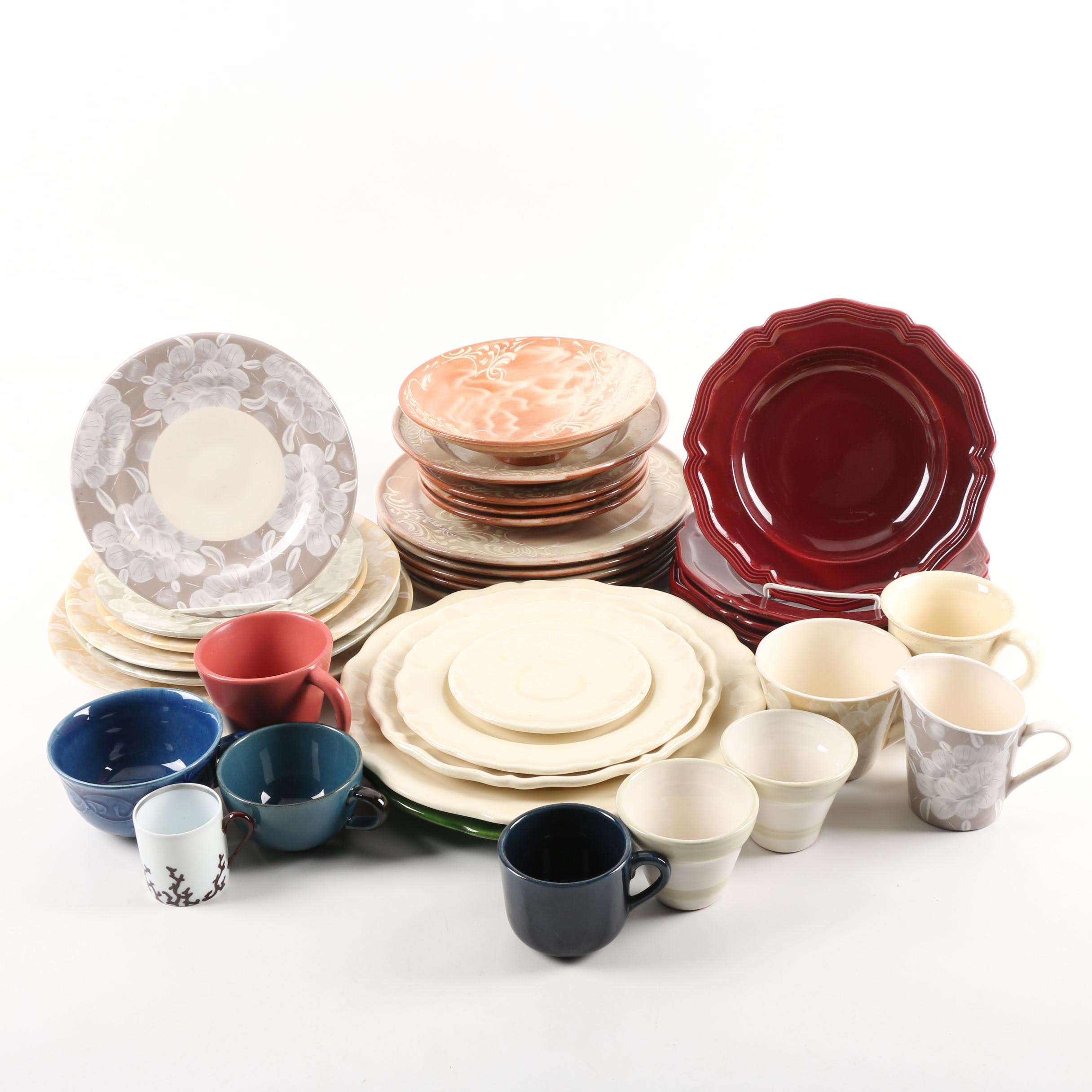 Assorted Stoneware and Porcelain Tableware