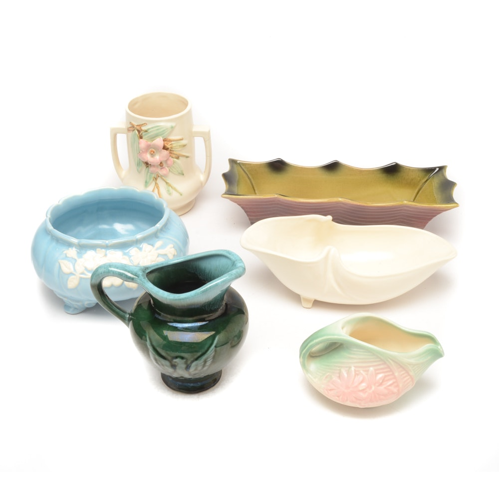 Art Pottery Including Weller, McCoy and Hull
