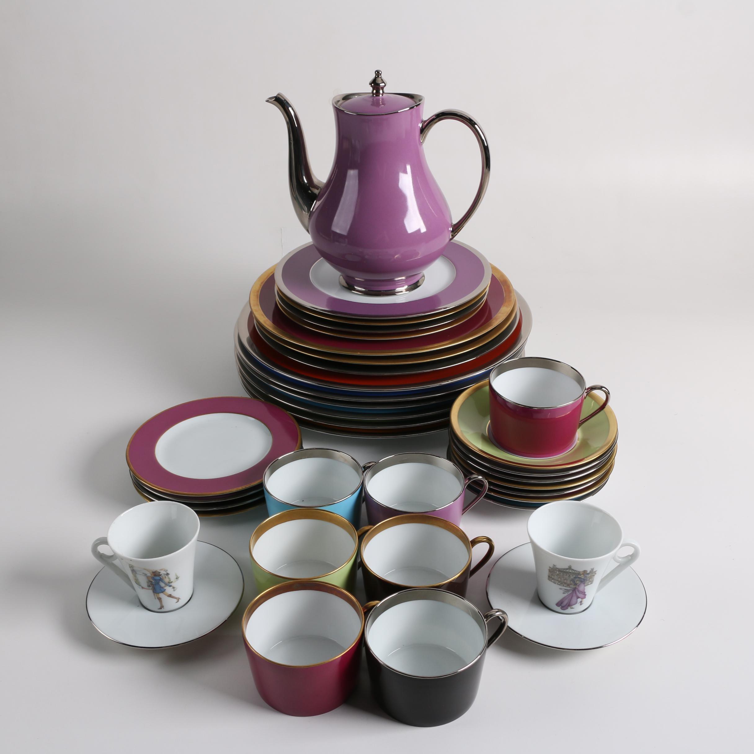 """Haviland Limoges """"Lalique De Chine"""" Porcelain Dinnerware"""