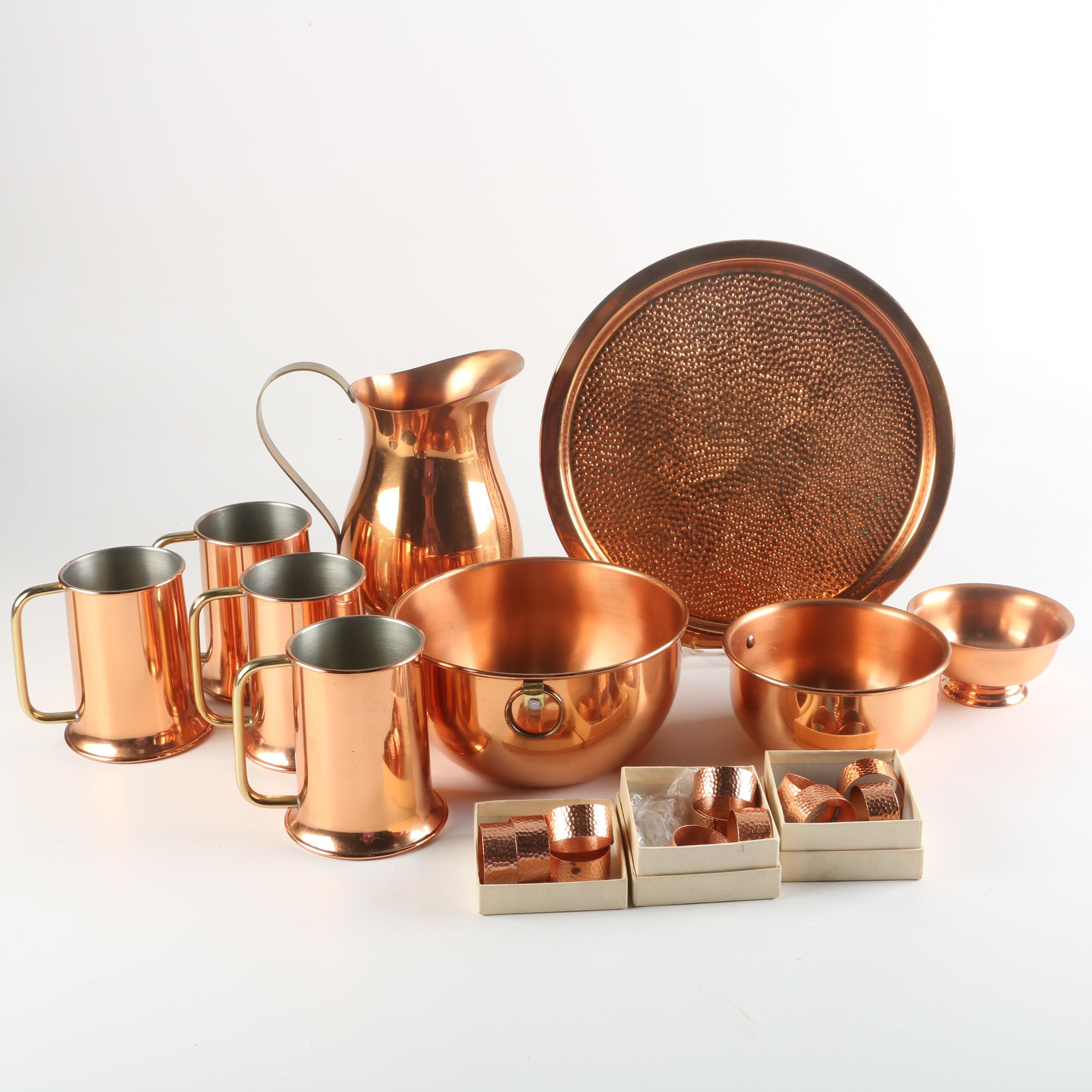 Vintage and Contemporary Copper Serveware Featuring Coppercraft Guild