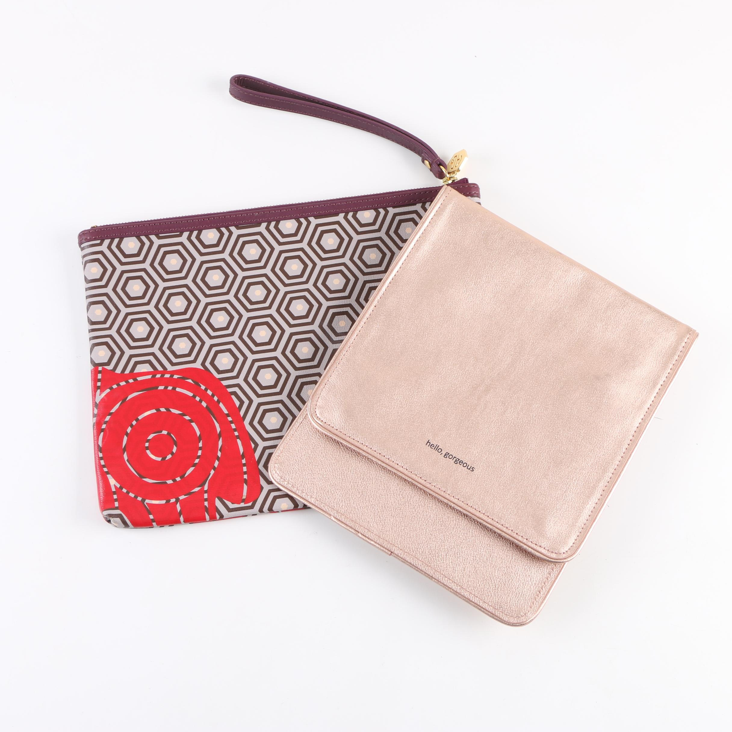 Jonathan Adler and Anthropologie Leather Clutches