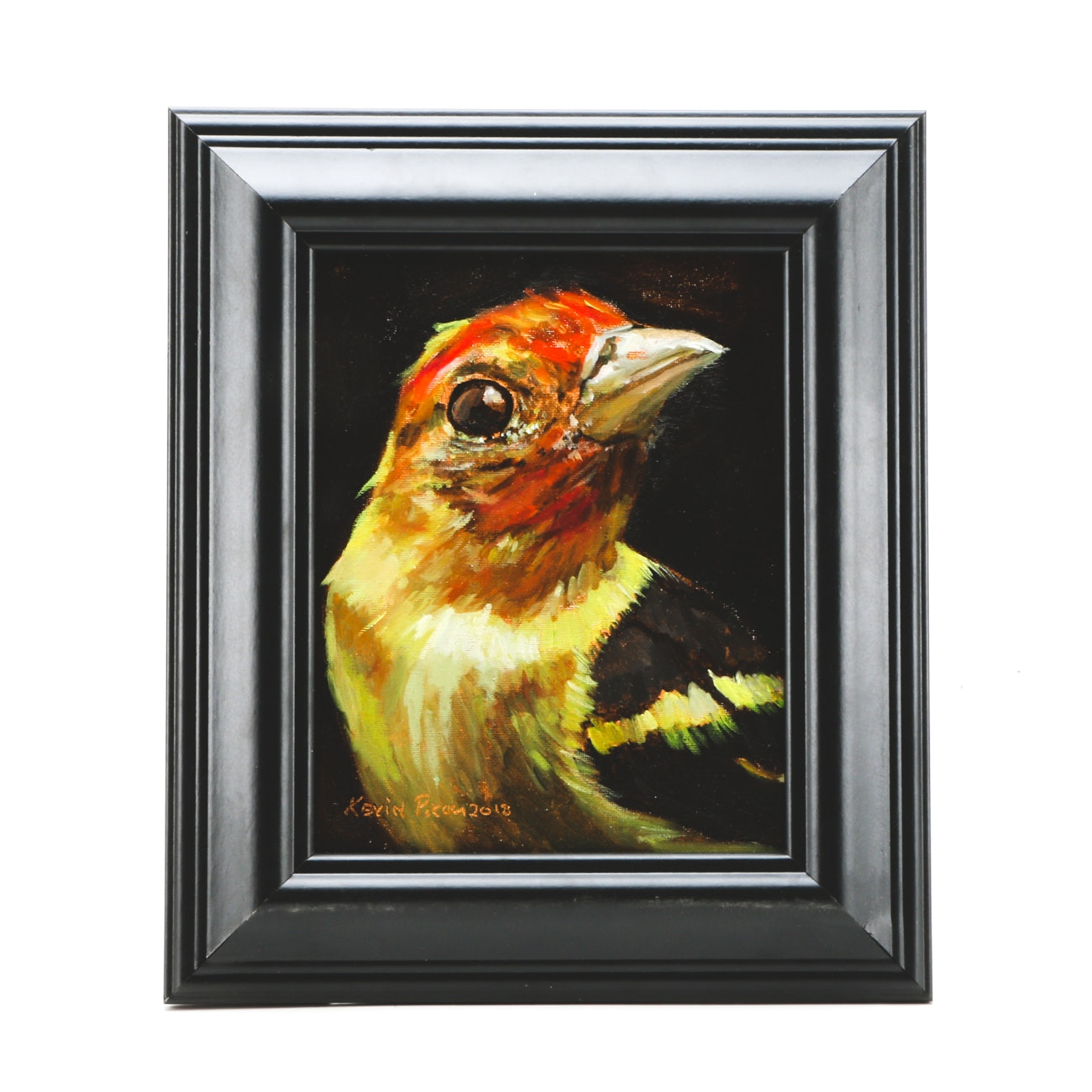Kevin Picou Original Oil Painting on Canvas Board of a Bird