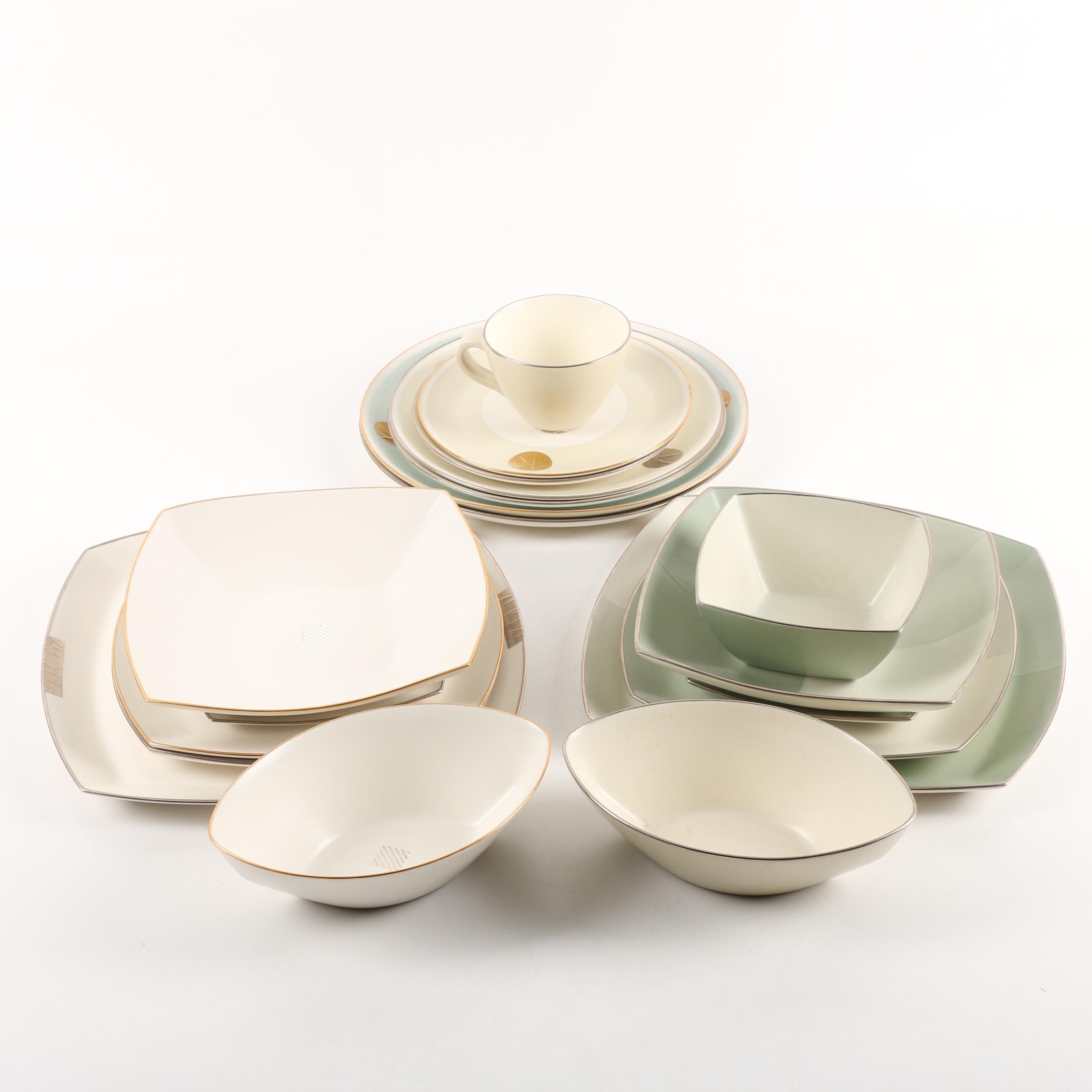 Contemporary Daniel Levy Hand Built Signed Porcelain Dinnerware