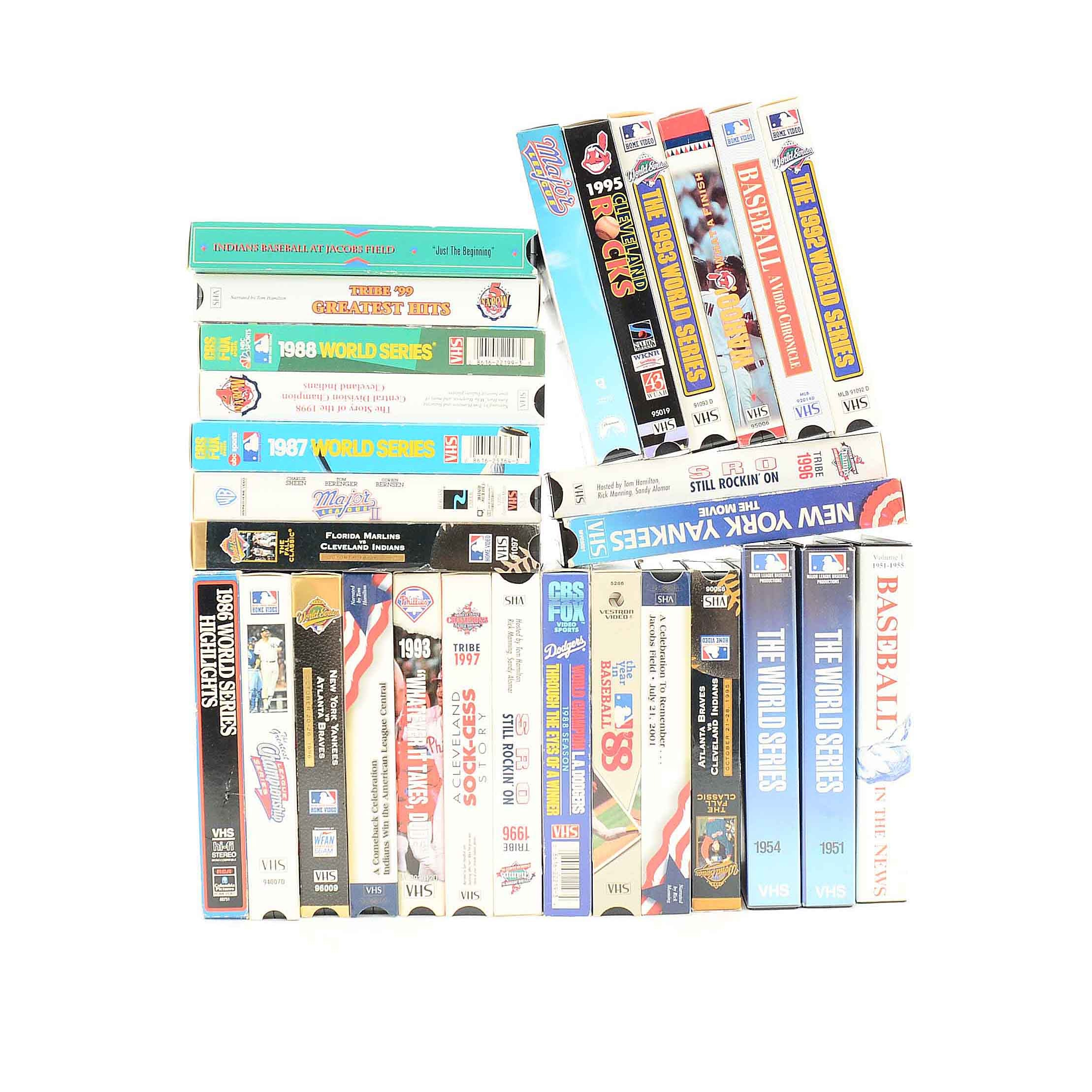 1980s and 1990s Baseball VHS Tapes