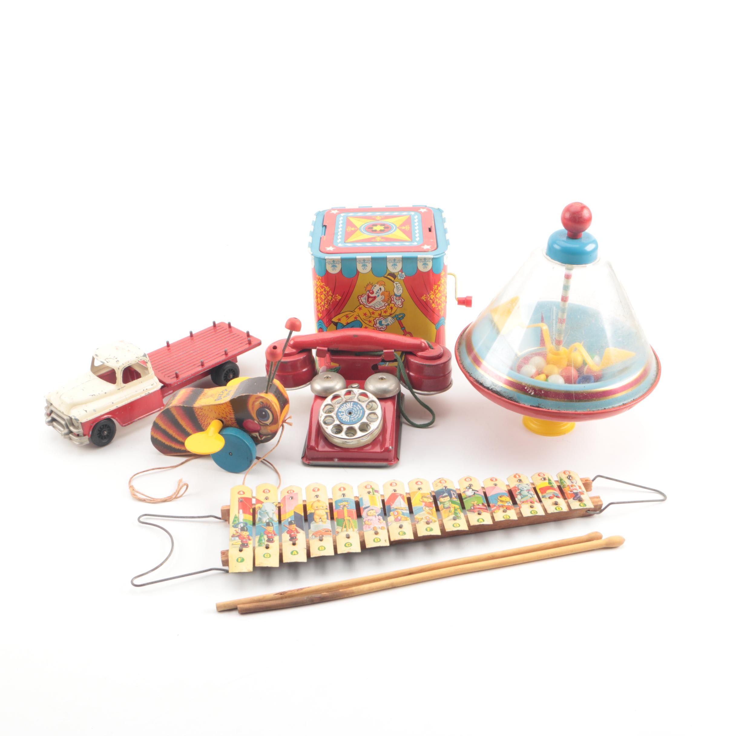 Vintage Toys Including Hubley and Fisher Price