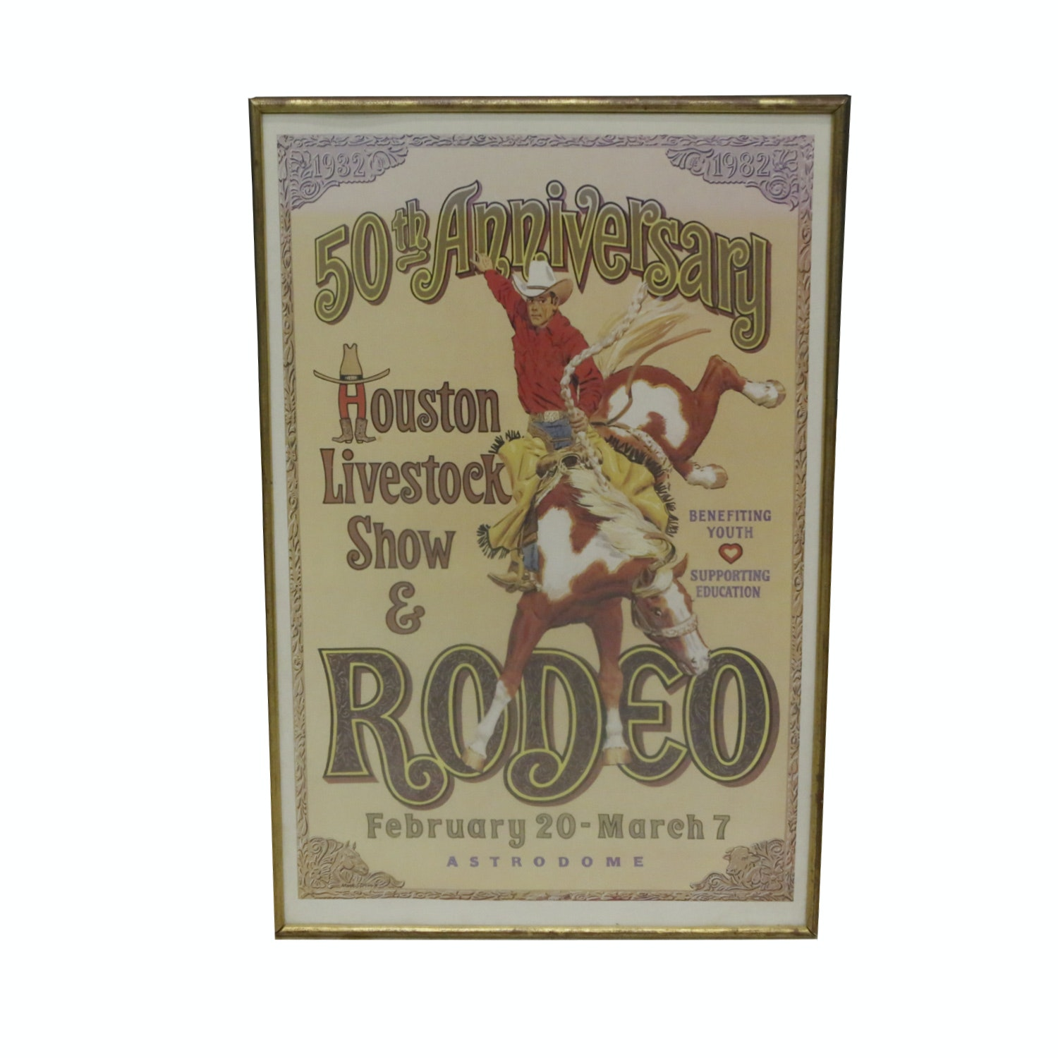 50th Anniversary Houston Live Stock Show Poster