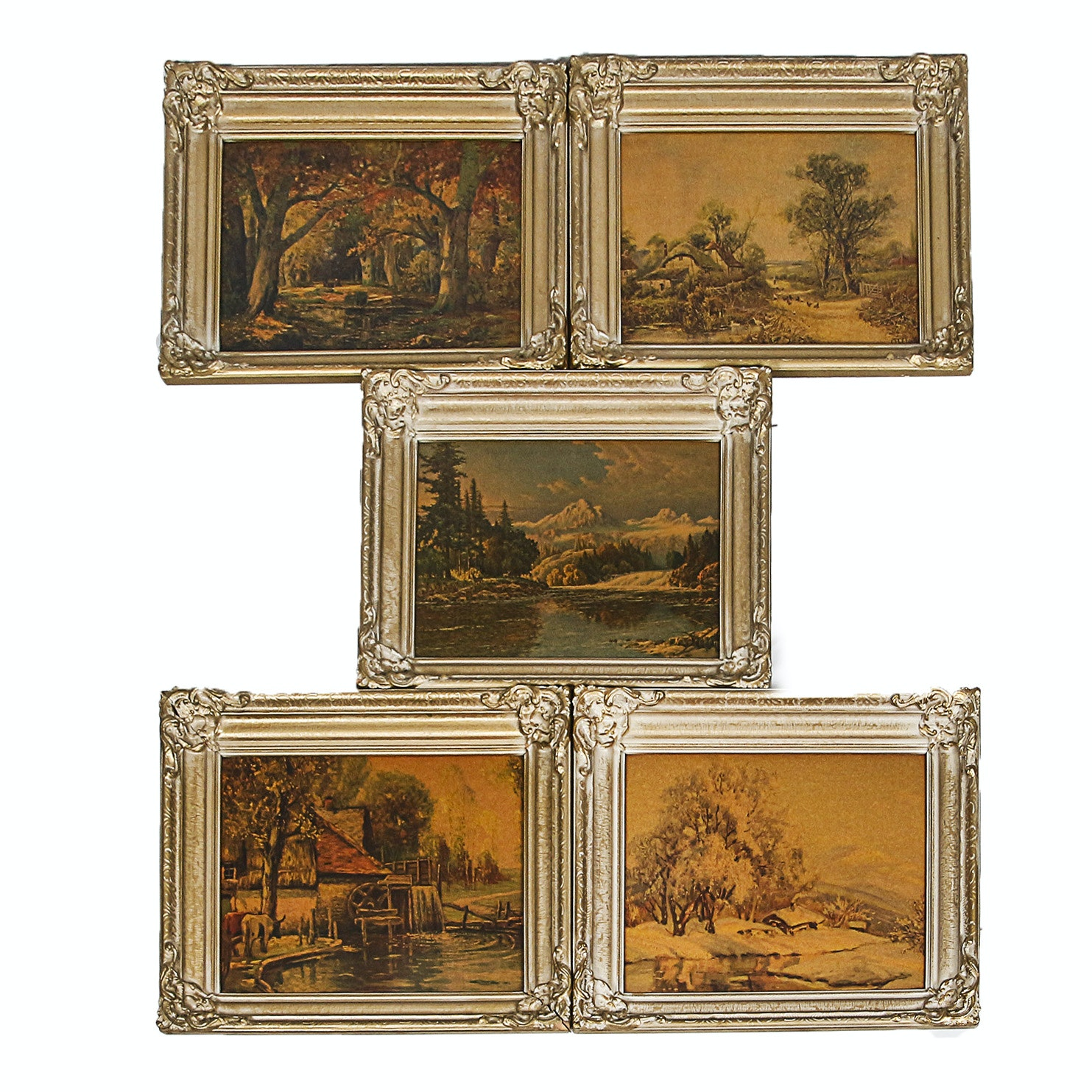 Landscape Lithographs After Paintings