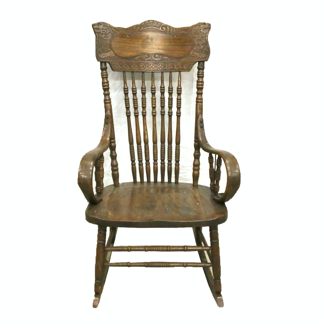 Vintage Victorian Style Press Back Rocking Chair