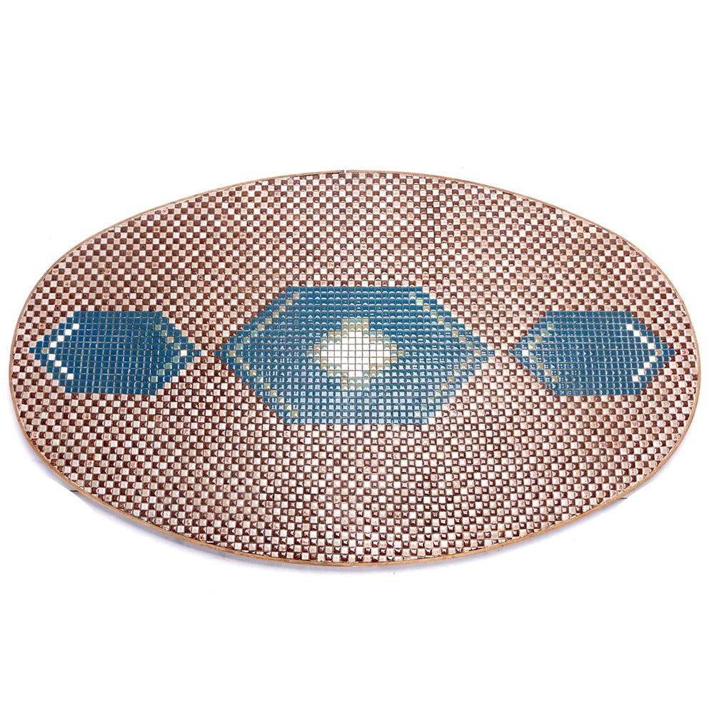 Tile Mosaic Oval Table Top