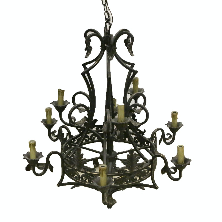 lighting cast iron chandeliers wrought rod candle uk chandelier