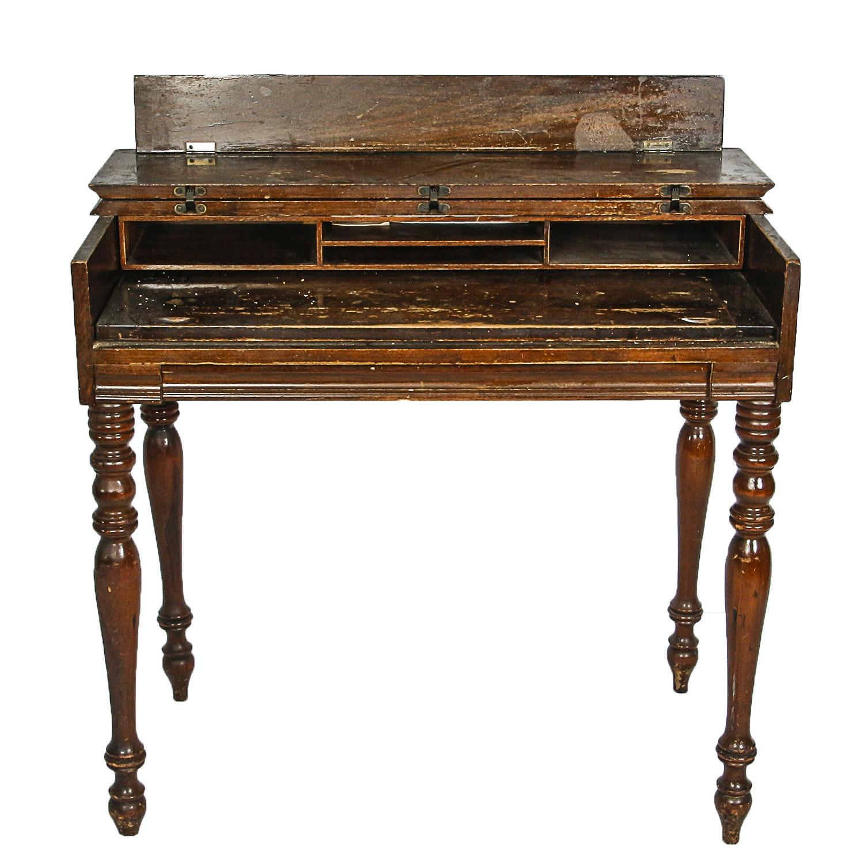 Vintage Wooden Spinet Desk
