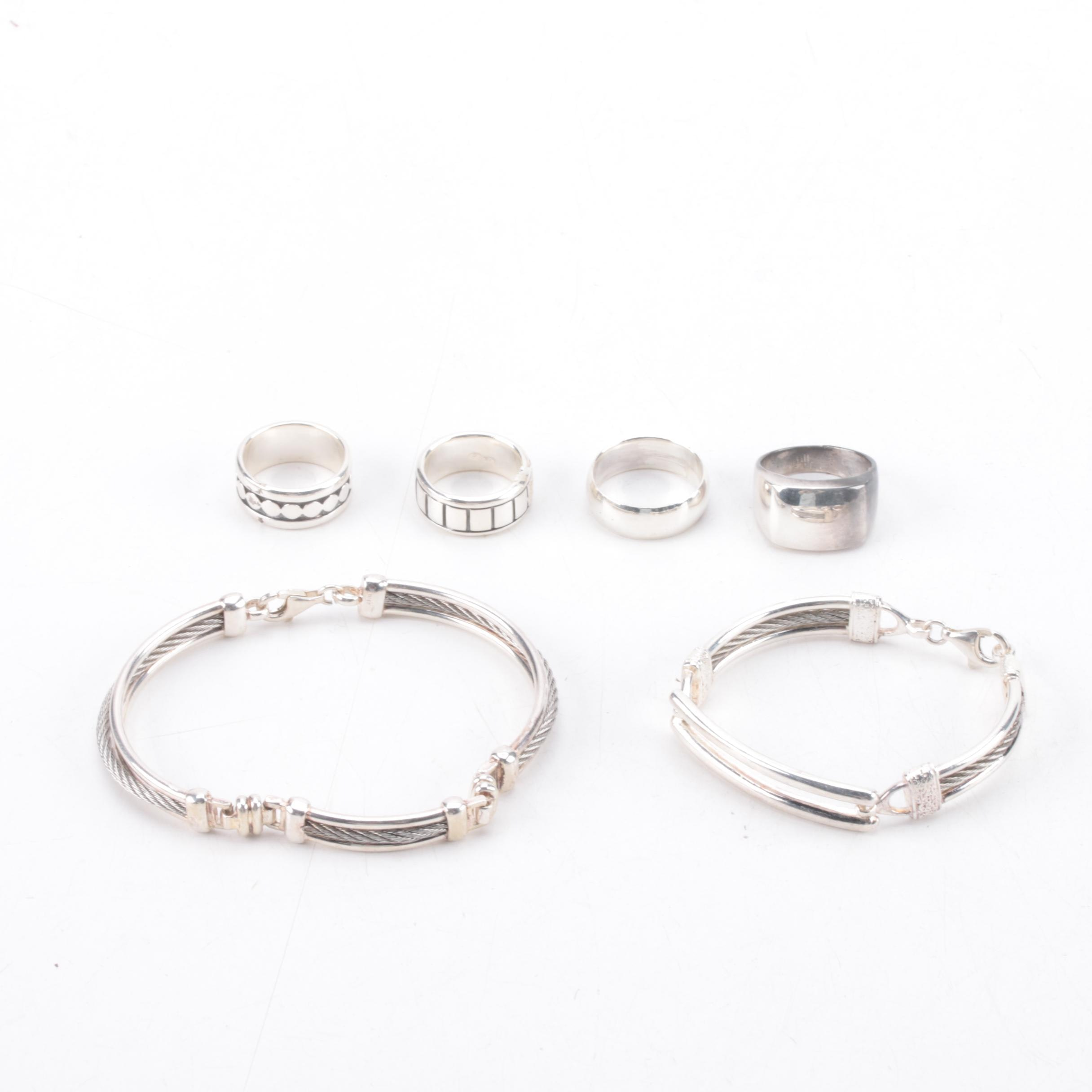 Sterling Silver Ring and Bracelet Selection