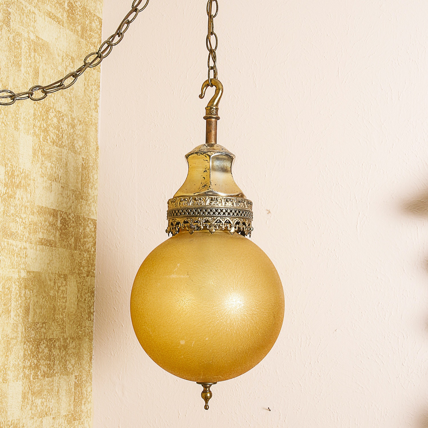 Vintage Moroccan-Style Pendant Swag Light Fixture