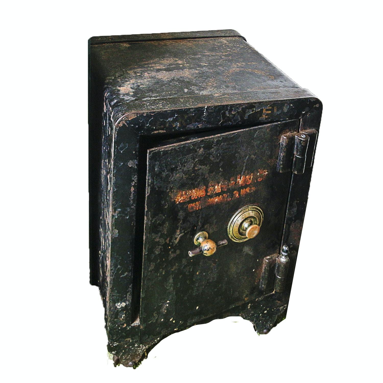Antique Alpine Safe & Lock Co. Cast Iron Floor Safe