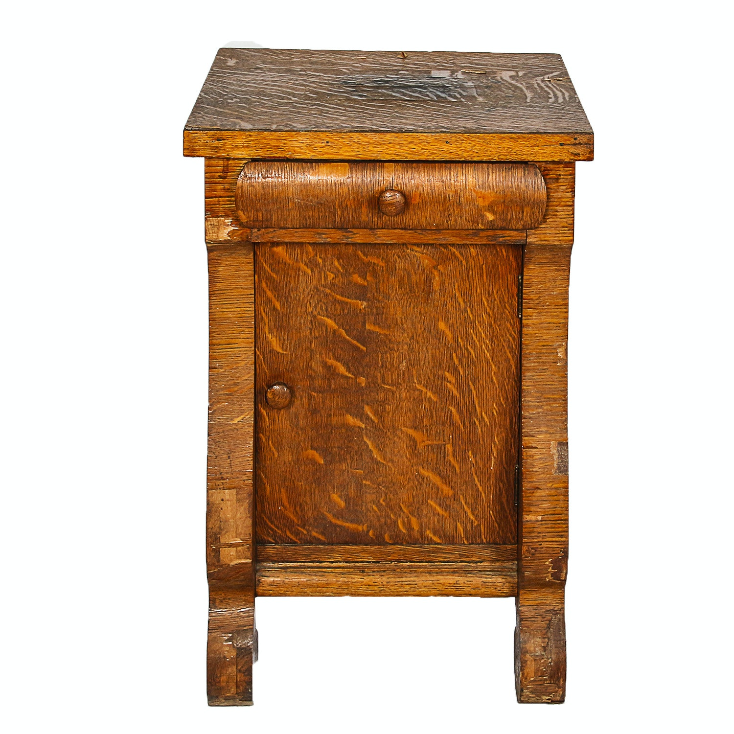 Antique Quatersawn Oak Side Table