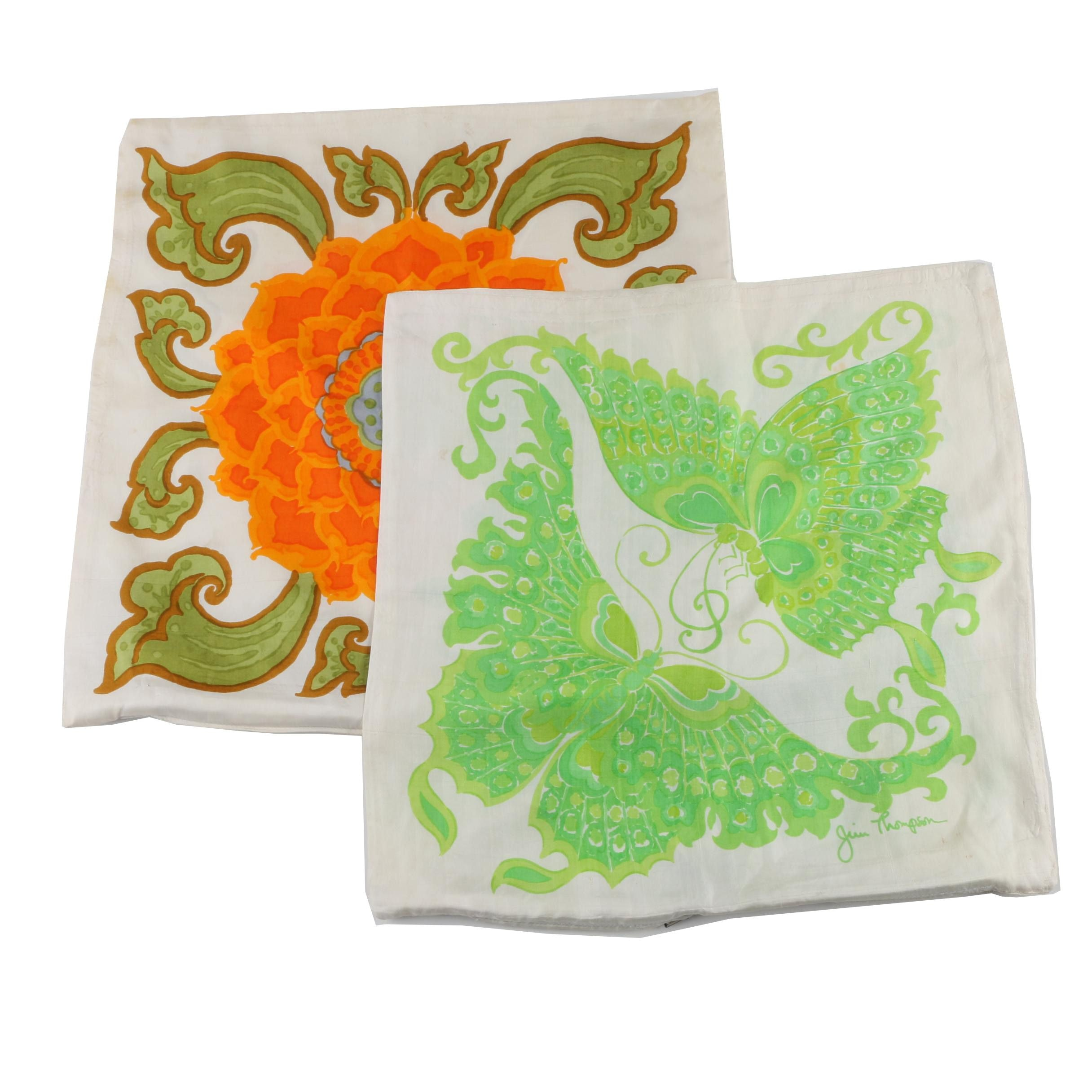 Jim Thompson Silk Pillow Covers