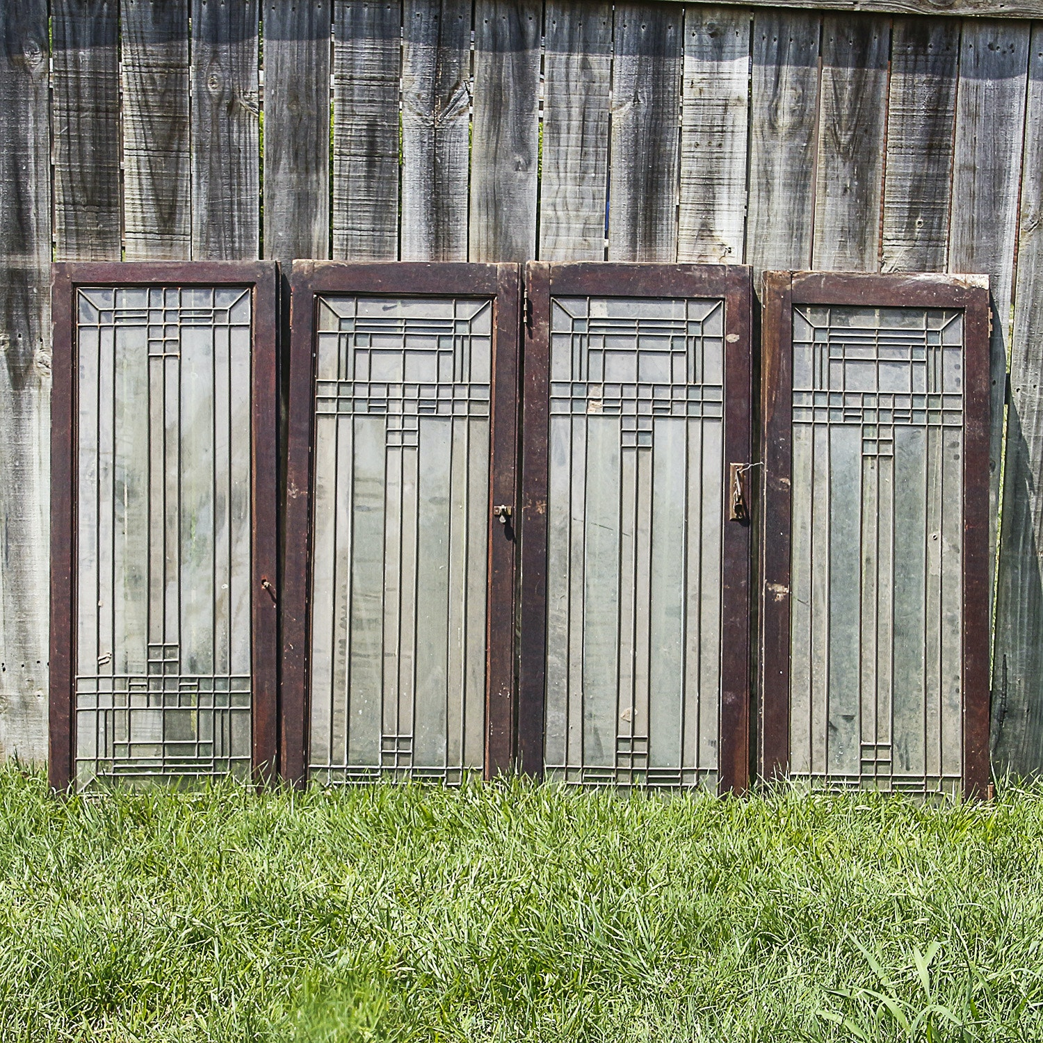 Arts and Crafts Leaded Glass Window or Door Panes
