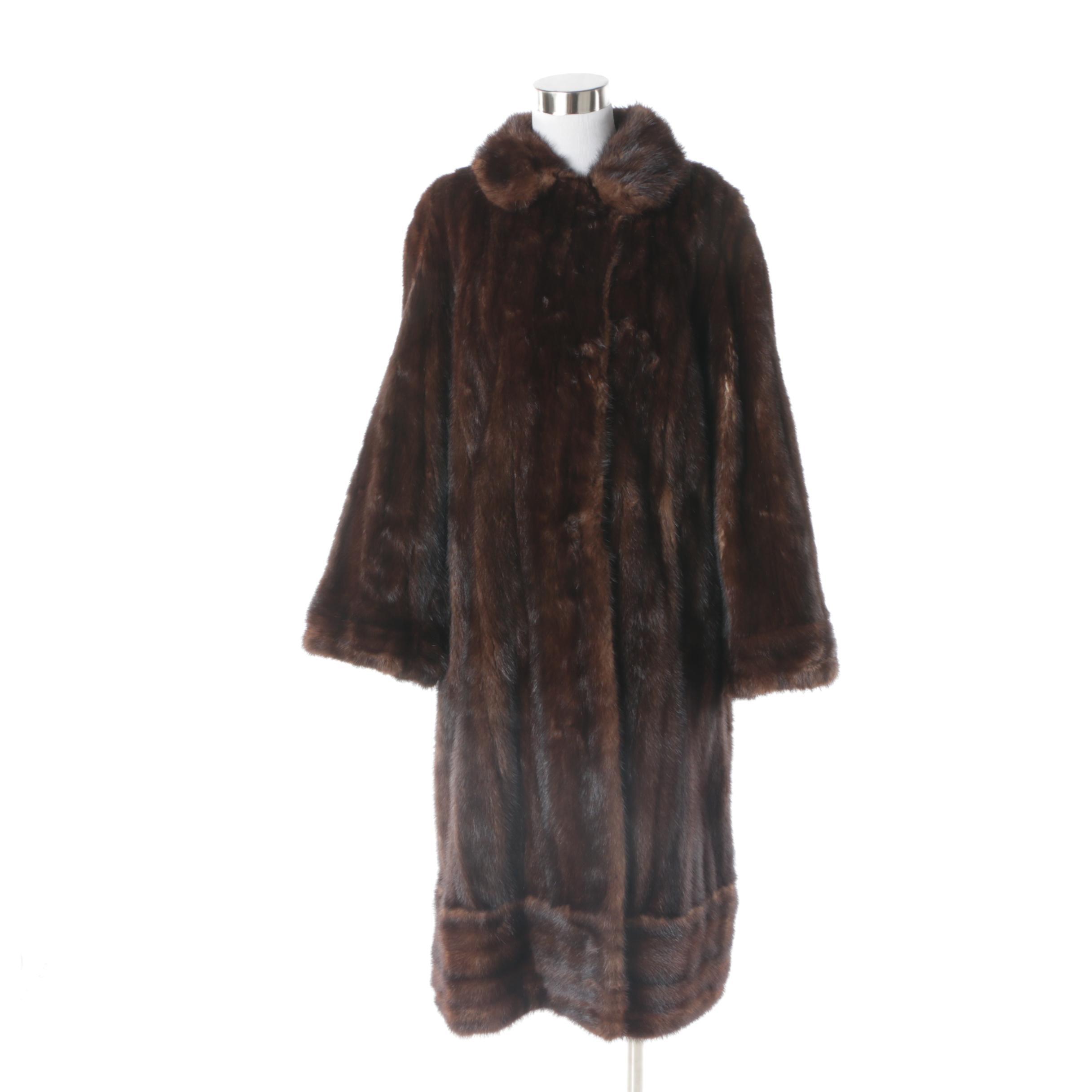 Women's Vintage Dark Brown Mink Fur Coat