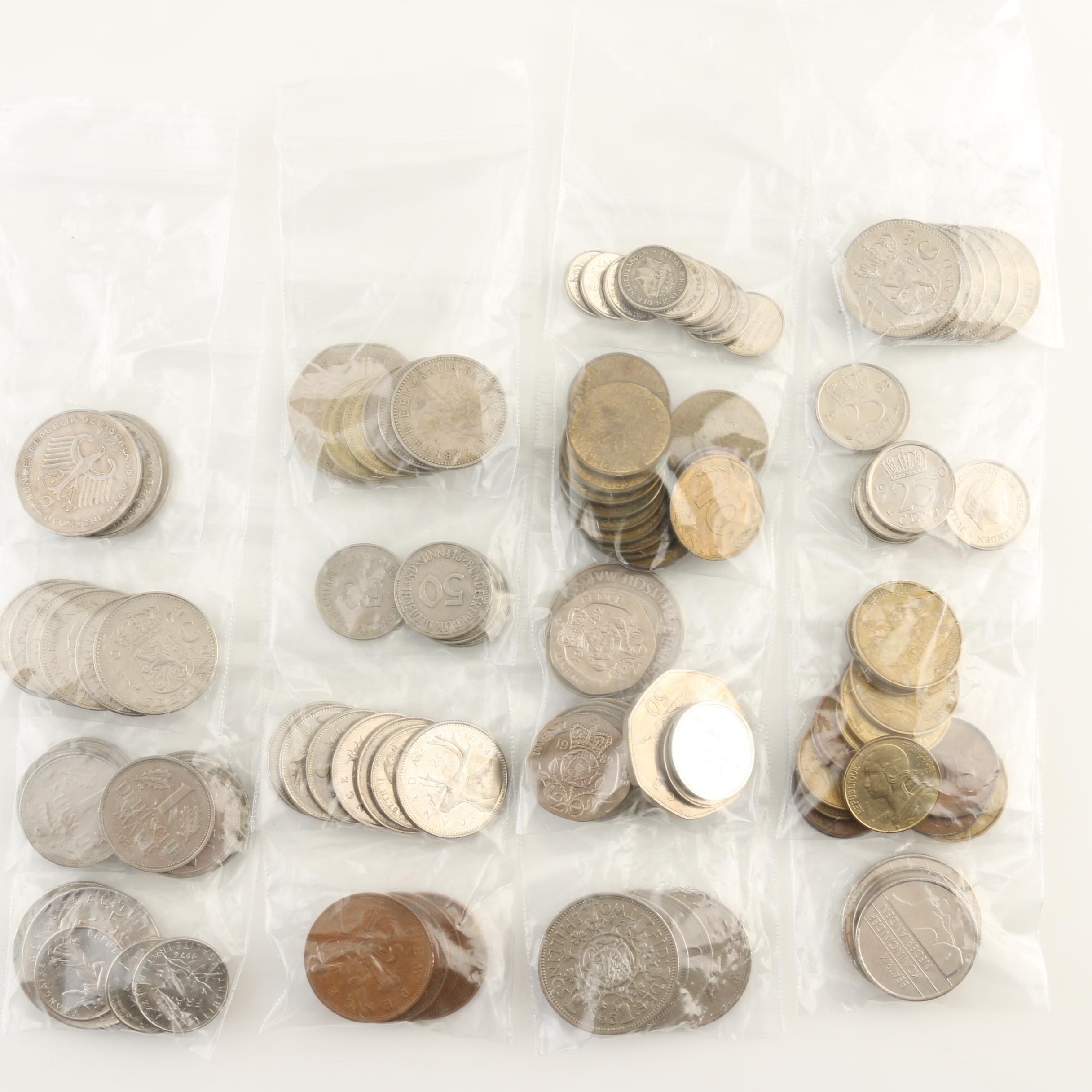 Group of Approximately 115 Various Foreign Coins