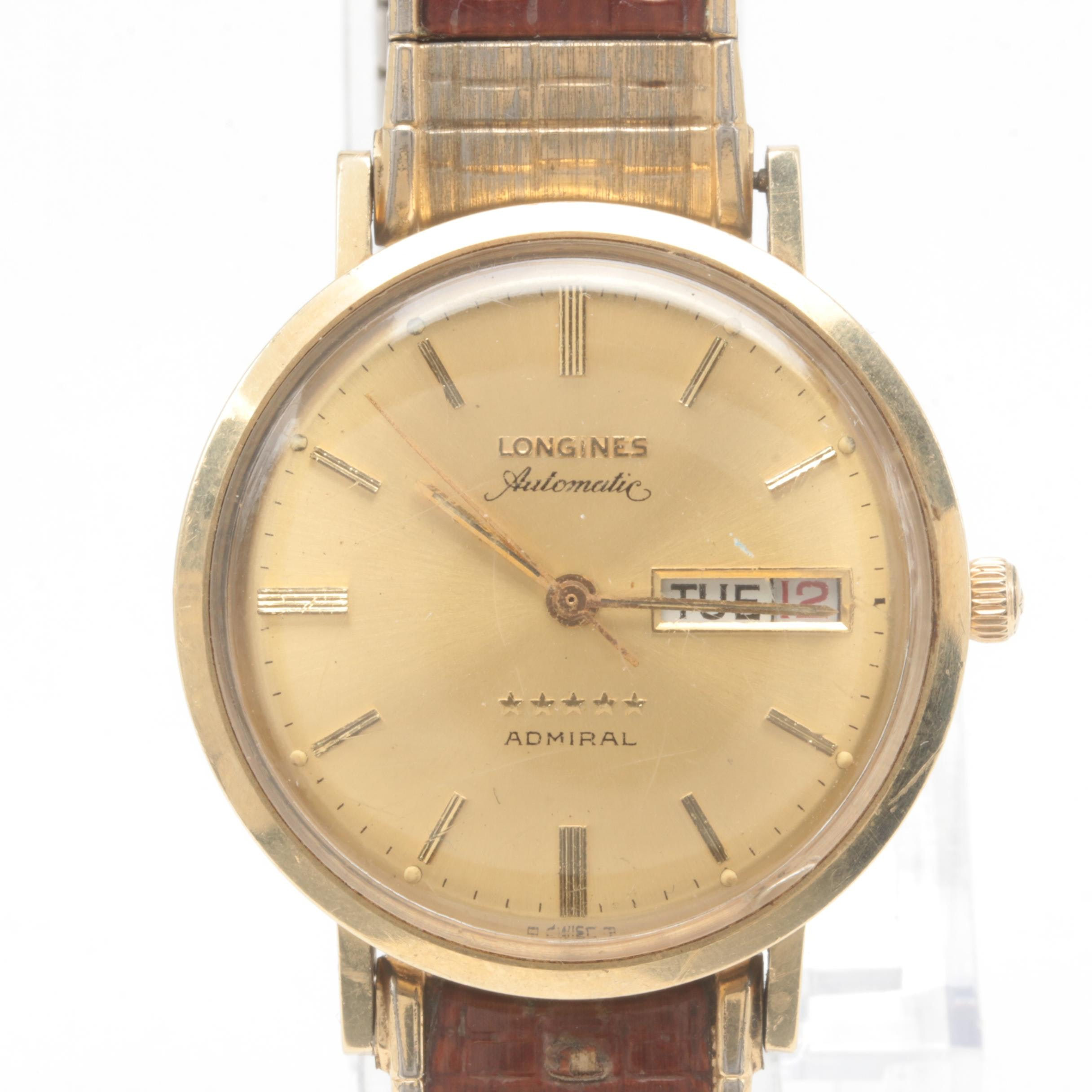 Longines 14K Yellow Gold Five Star Automatic Admiral Wristwatch