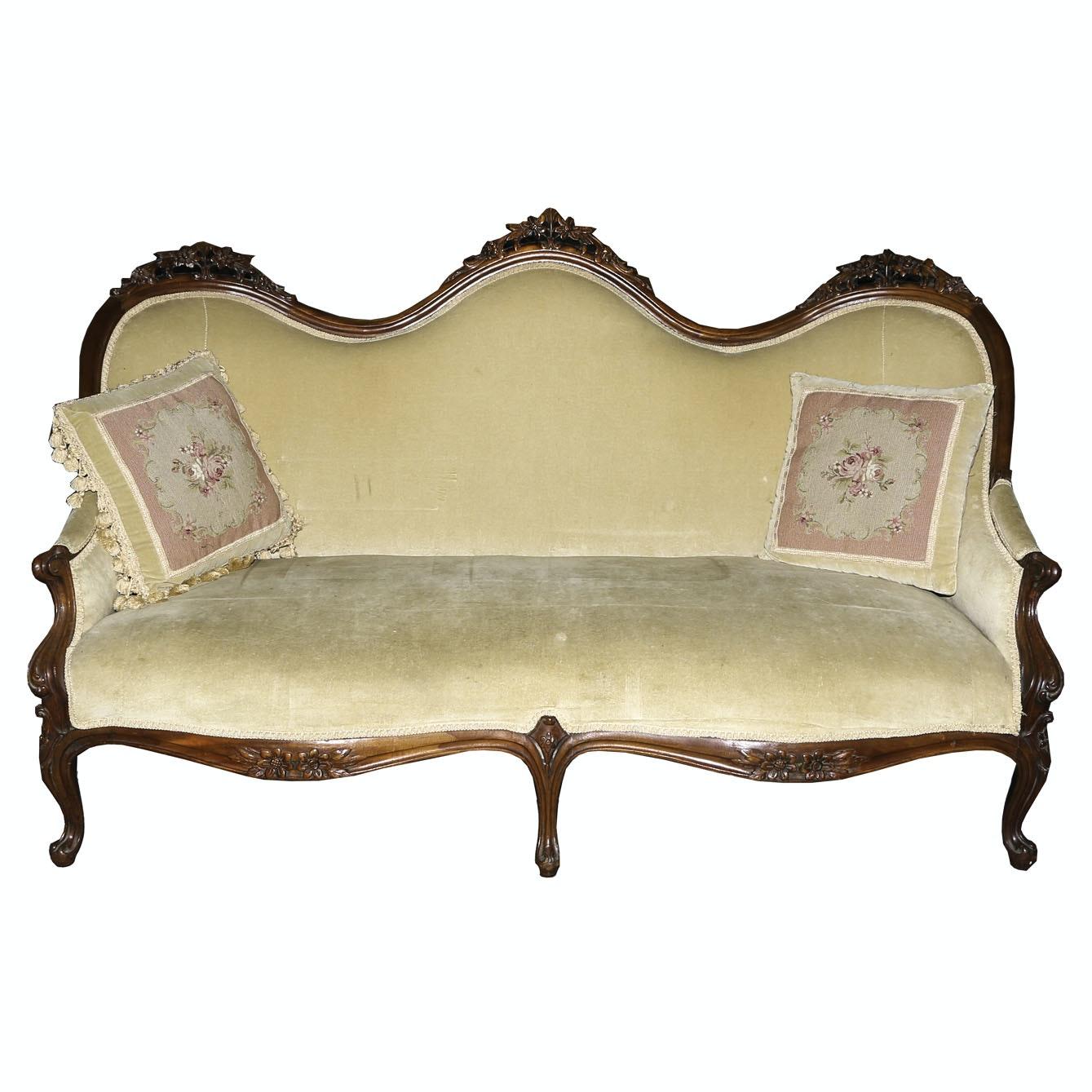 Antique Victorian Parlor Sofa