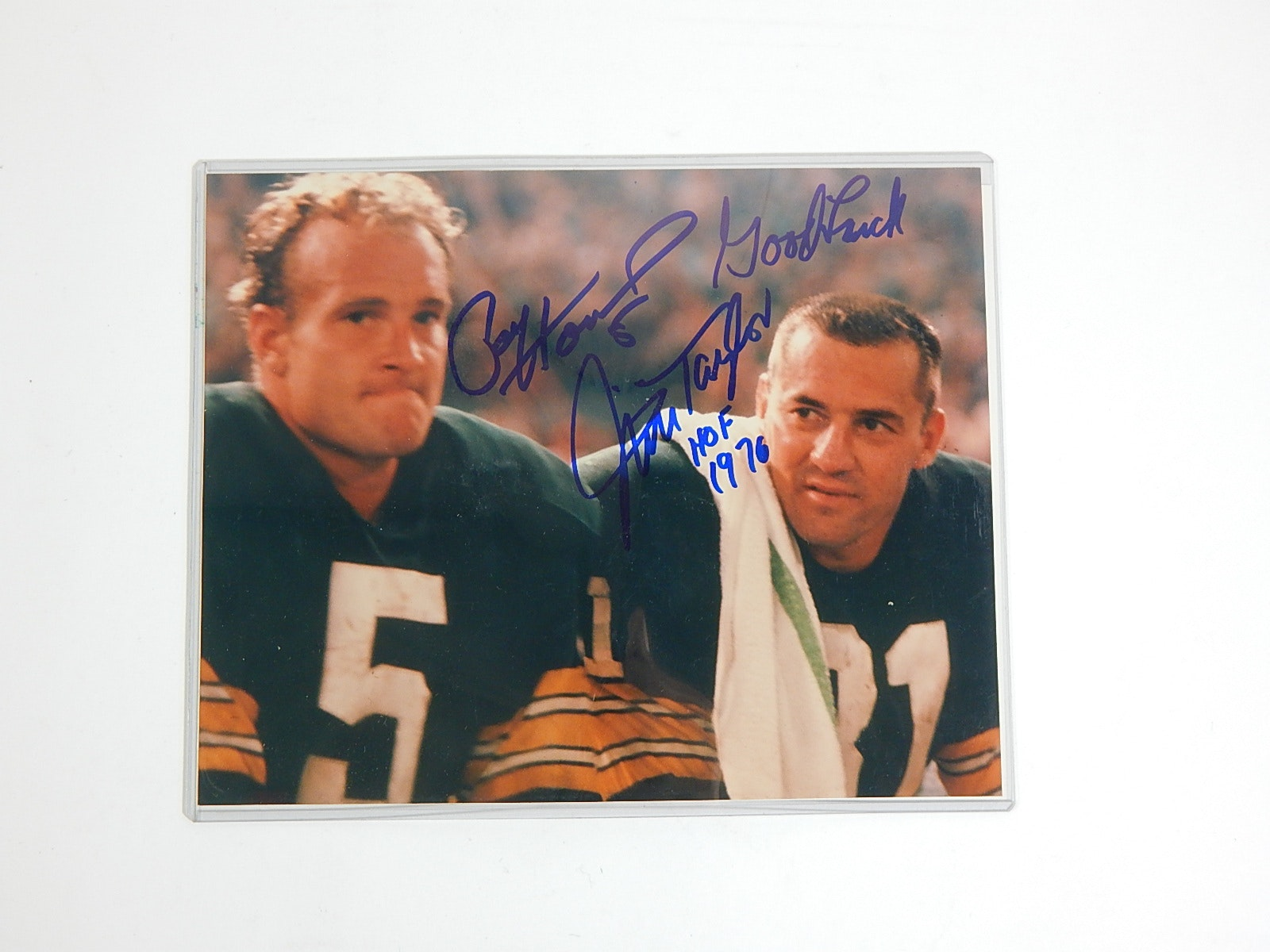 NFL Green Bay Packers Paul Hornung and Jim Taylor Signed Photograph