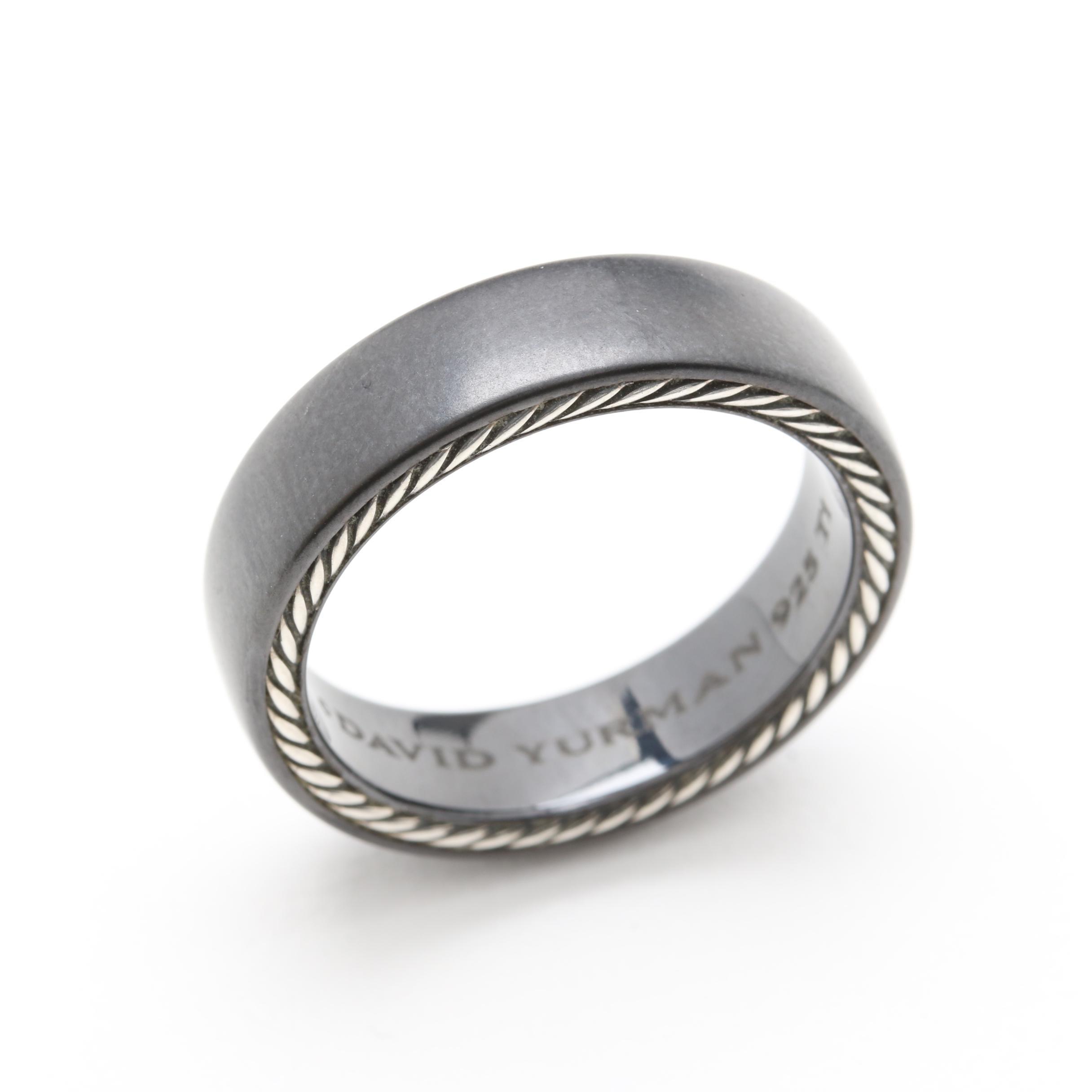 David Yurman Streamline Sterling Silver and Titanium Ring